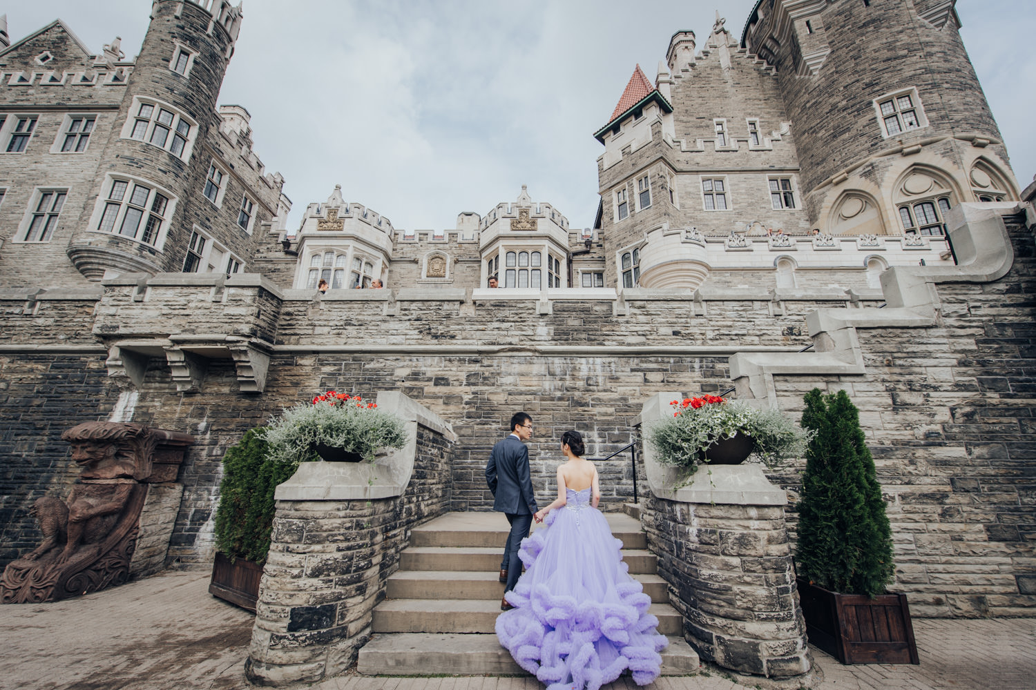 casa loma toronto wedding photos by the Terrace