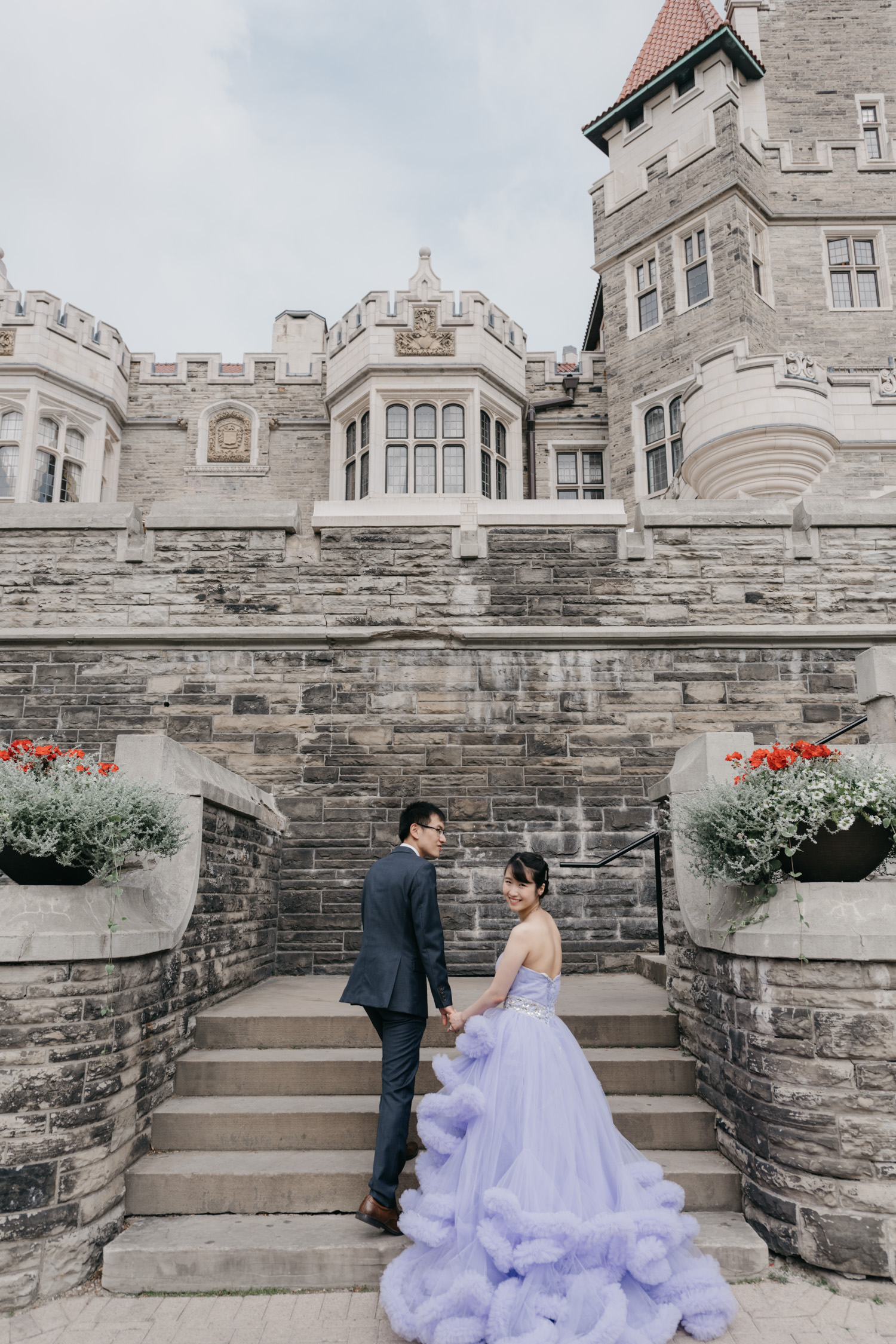 Grand Castle Fairytale Casa Loma Engagement And Wedding Photos