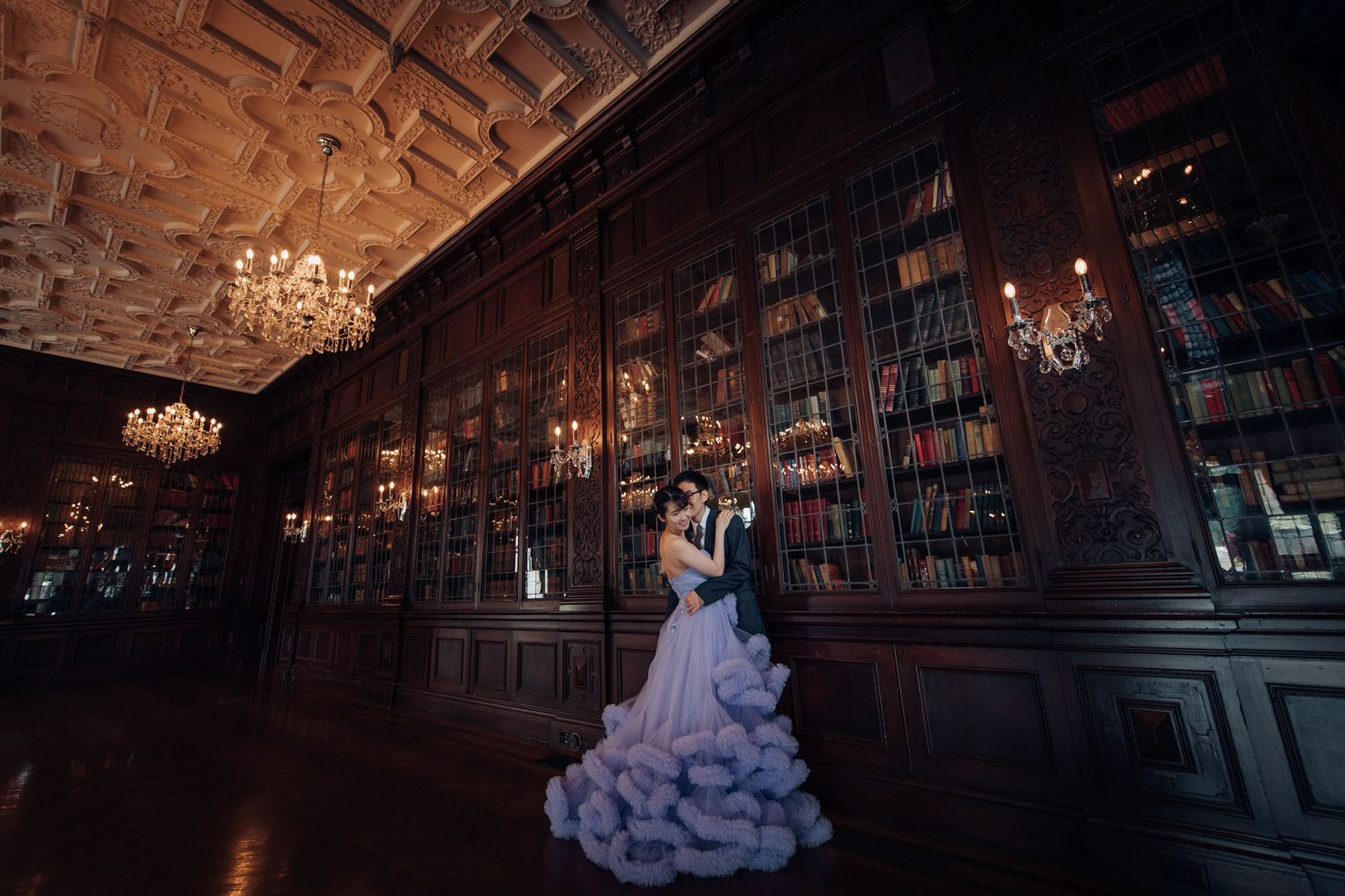 toronto casa loma wedding at the grand library