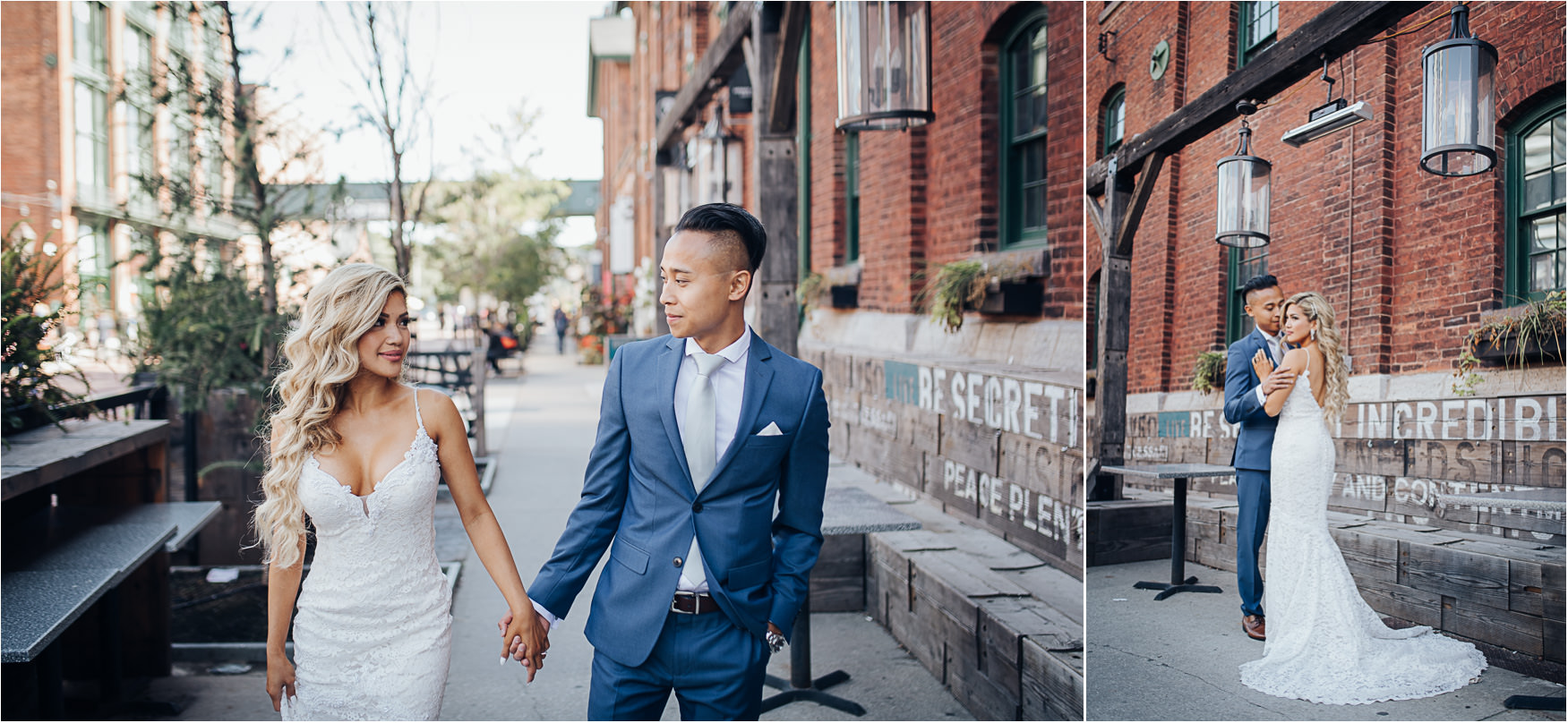 Wedding Formal Photos at the Distillery District in Toronto