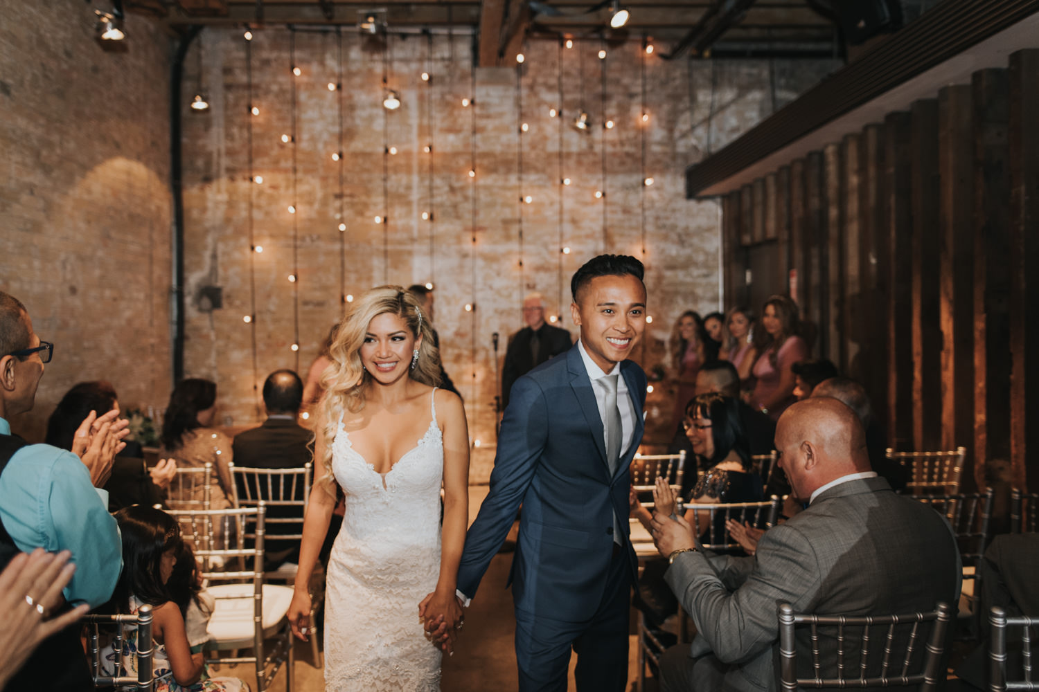 Toronto Distillery District The Loft Wedding Ceremony recessional