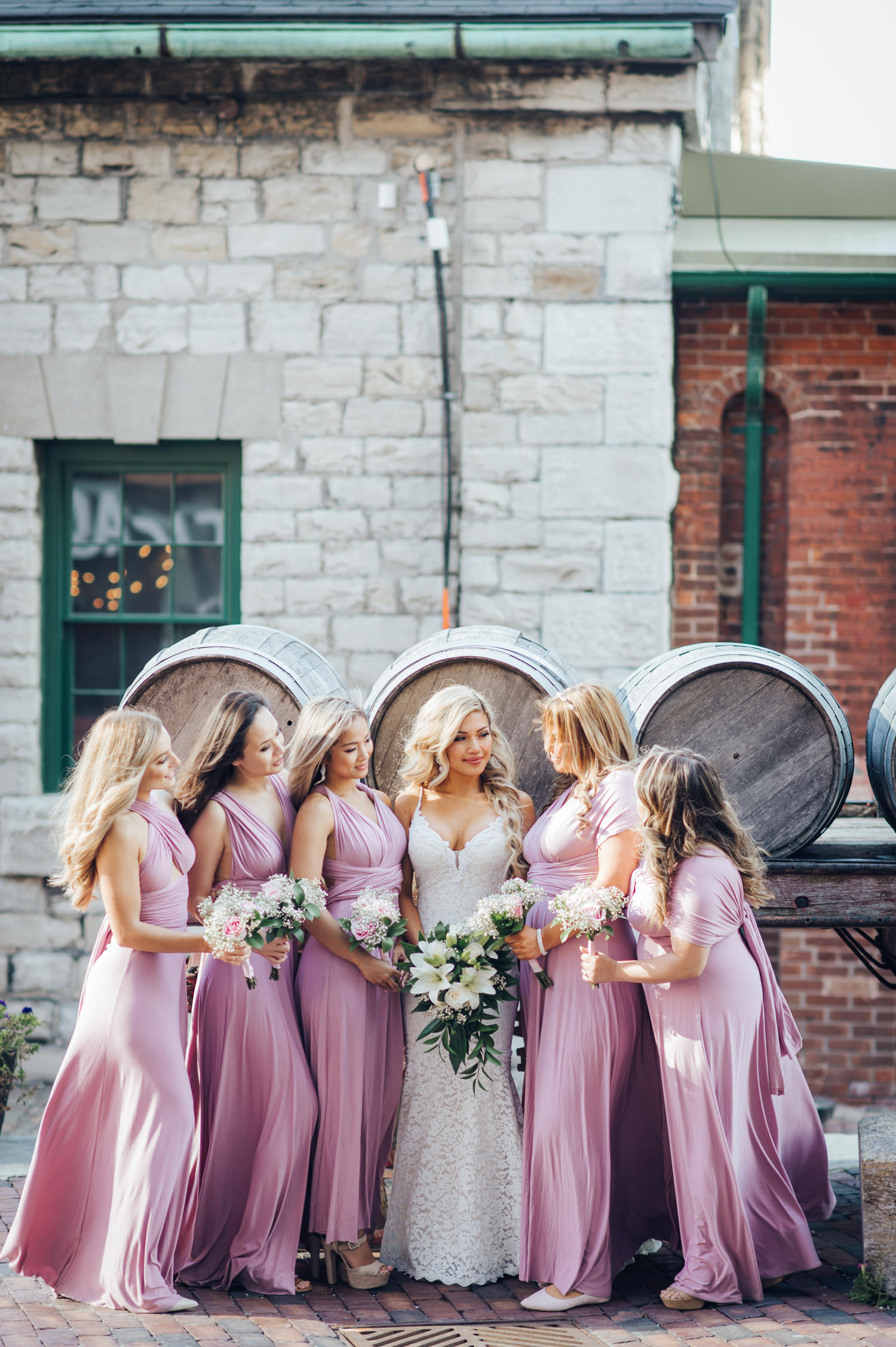Toronto Distillery District Wedding Photo