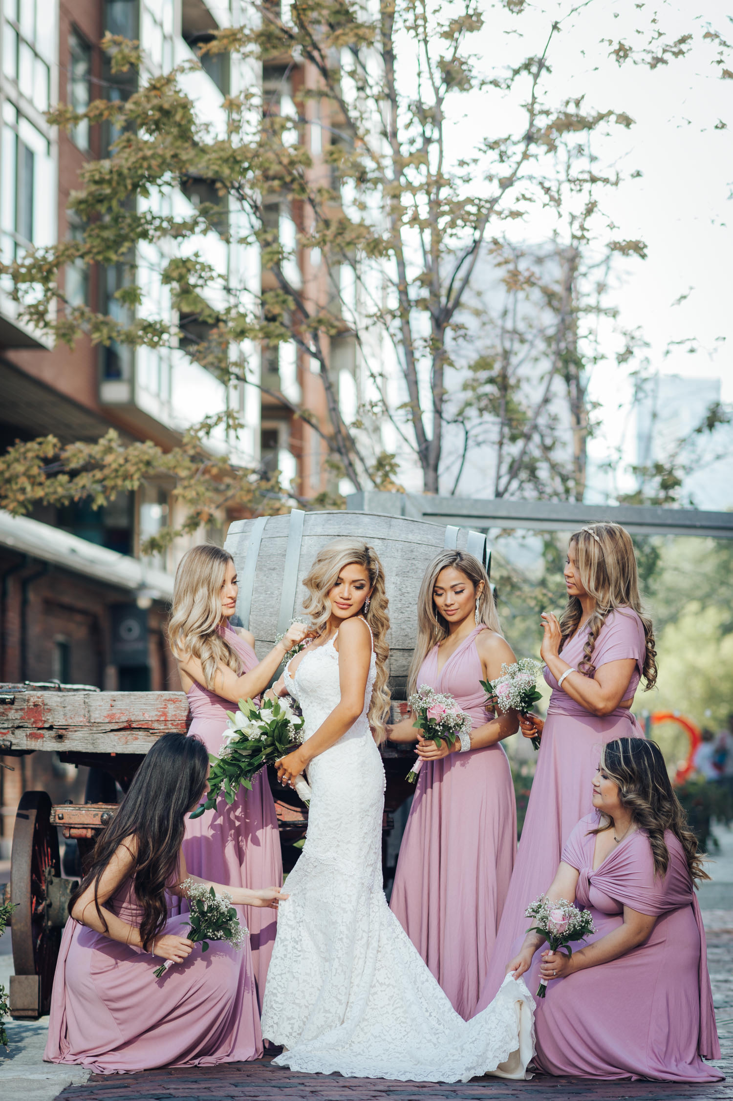 Wedding at the Distillery District featuring Cute Bridesmaids Photos