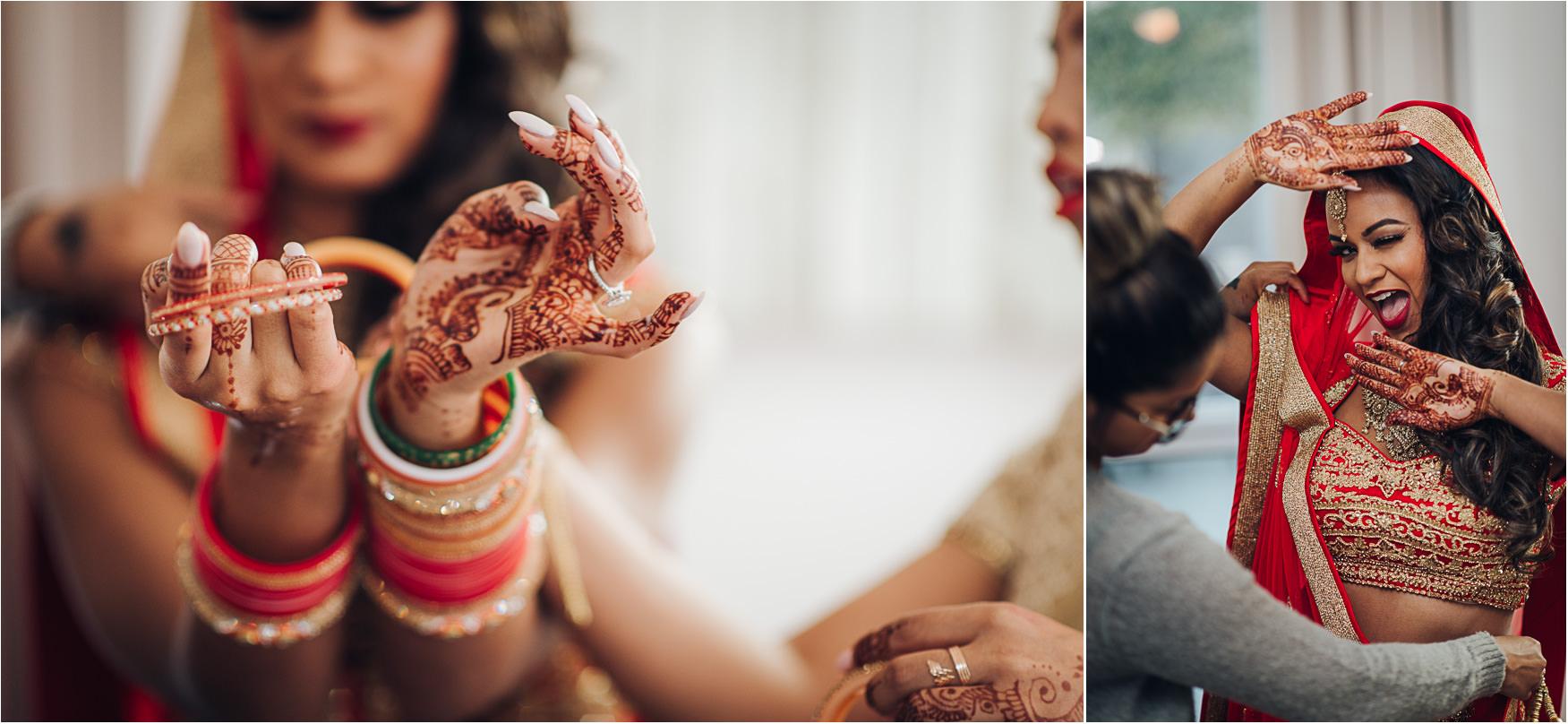 Hindu Wedding Bride Getting ready Details