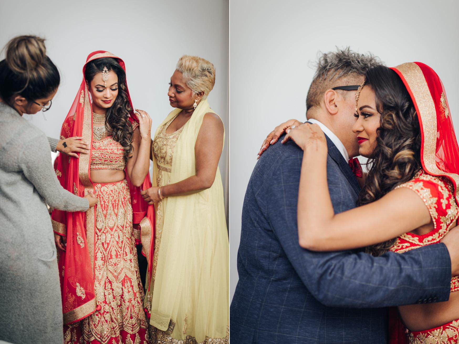 Hindu Wedding Getting ready in Toronto