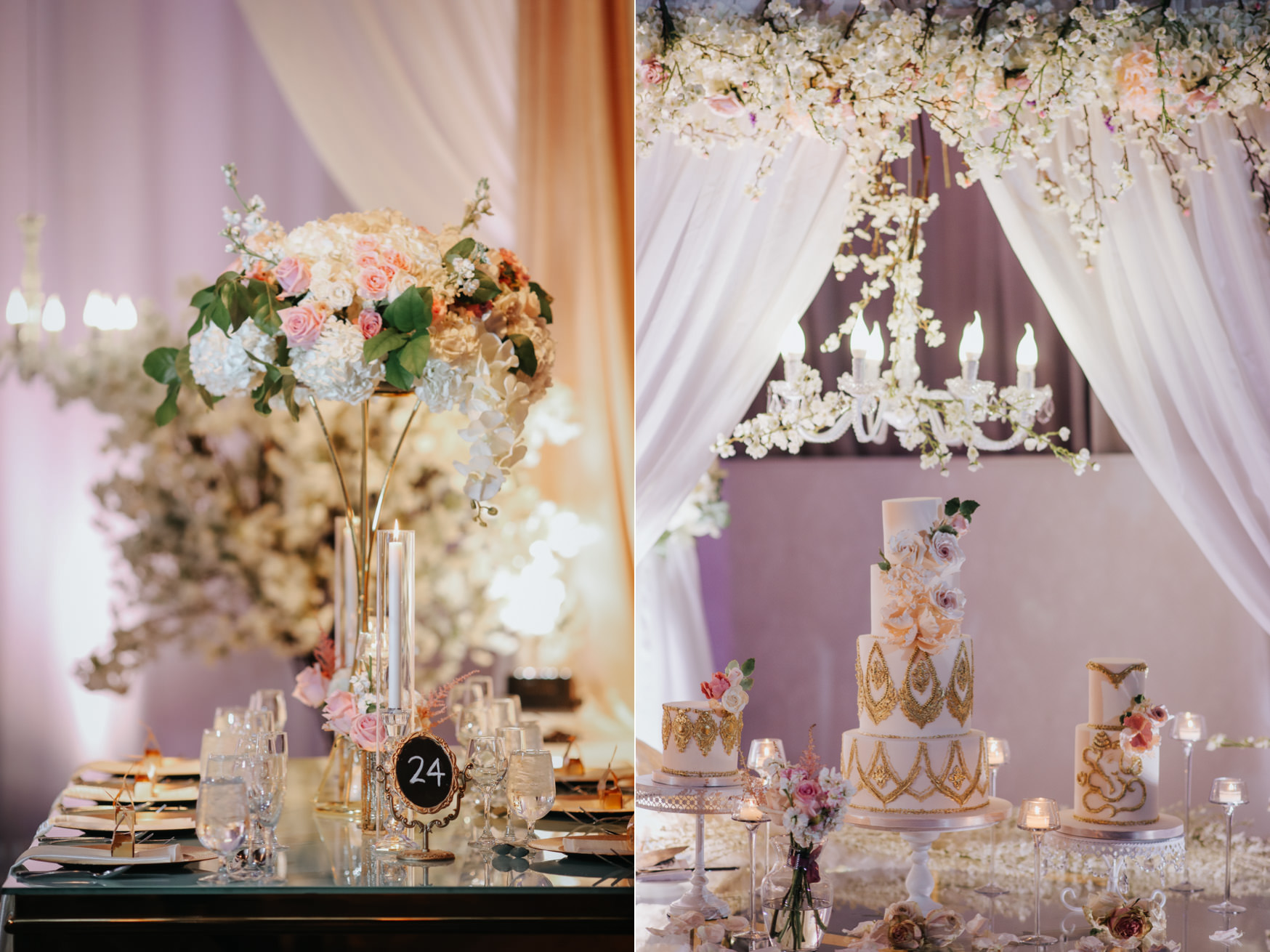 Liberty Grand Artifacts Room Wedding Reception Cake Details