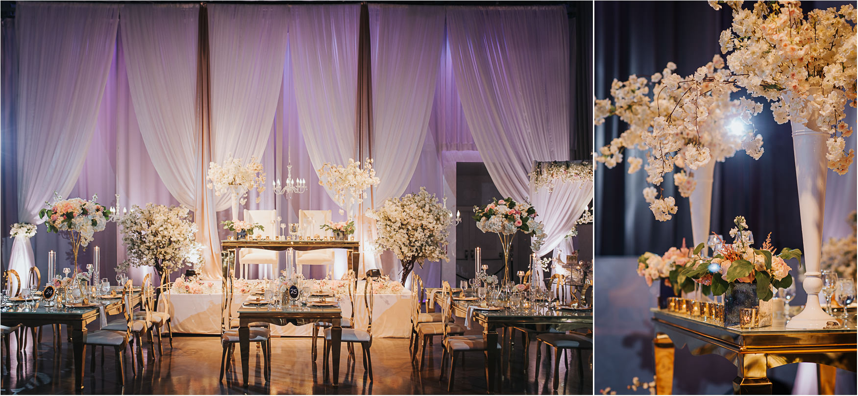 Liberty Grand Artifacts Room Wedding Reception Sweetheart Tables