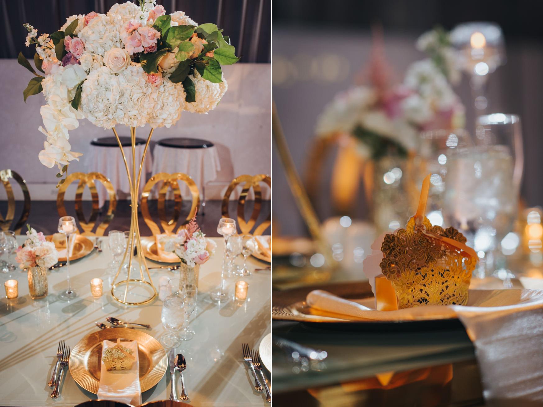 Liberty Grand Artifacts Room Wedding Reception Table Setting