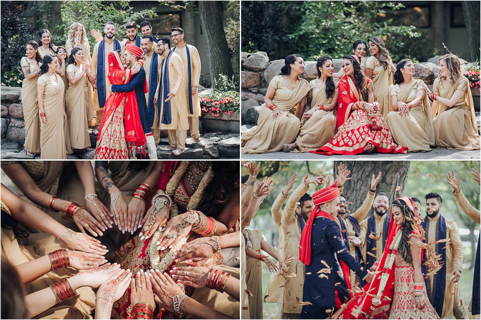 Liberty Grand Courtyard Hindi Wedding Bridal Party