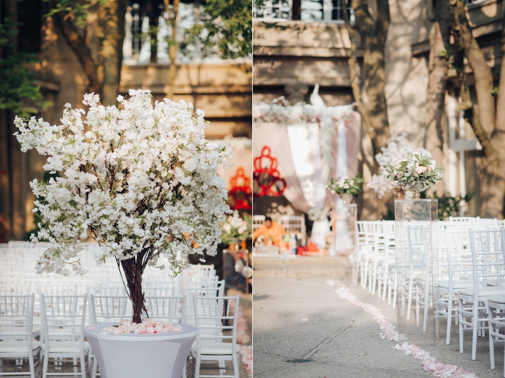 Liberty Grand Courtyard Wedding Ceremony