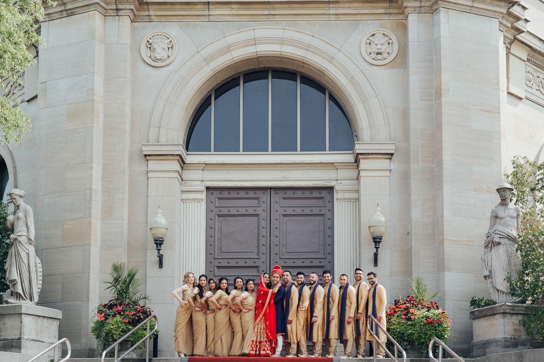 Liberty Grand Wedding Party Photo