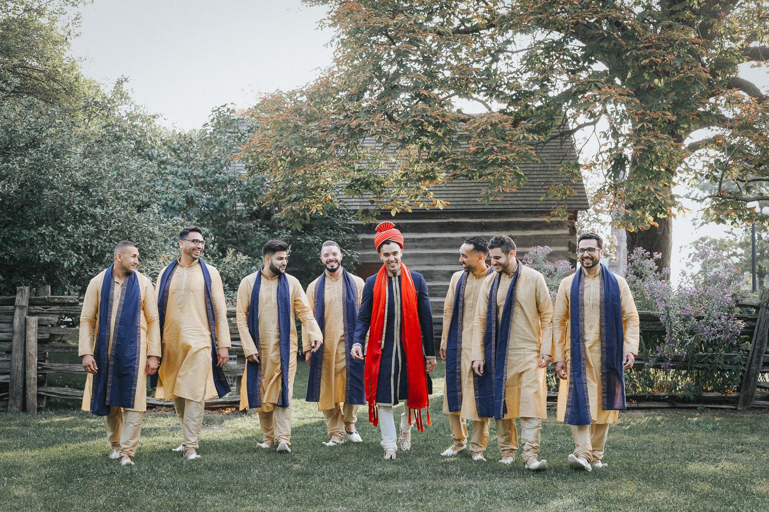 Toronto Lakeshore Wedding Photo with Groomsmen