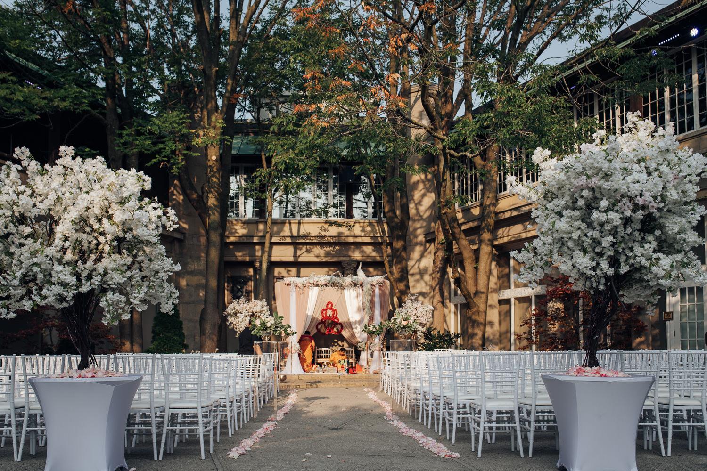 Hindu Wedding Setup and Detail at the Toronto Liberty Grand Courtyard