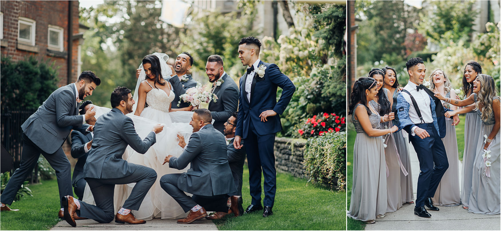 Toronto Victoria University Wedding Party Photo