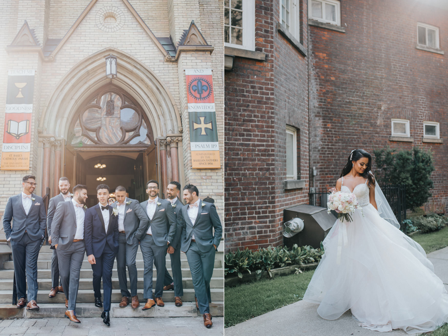 Toronto Victoria University Wedding Photo