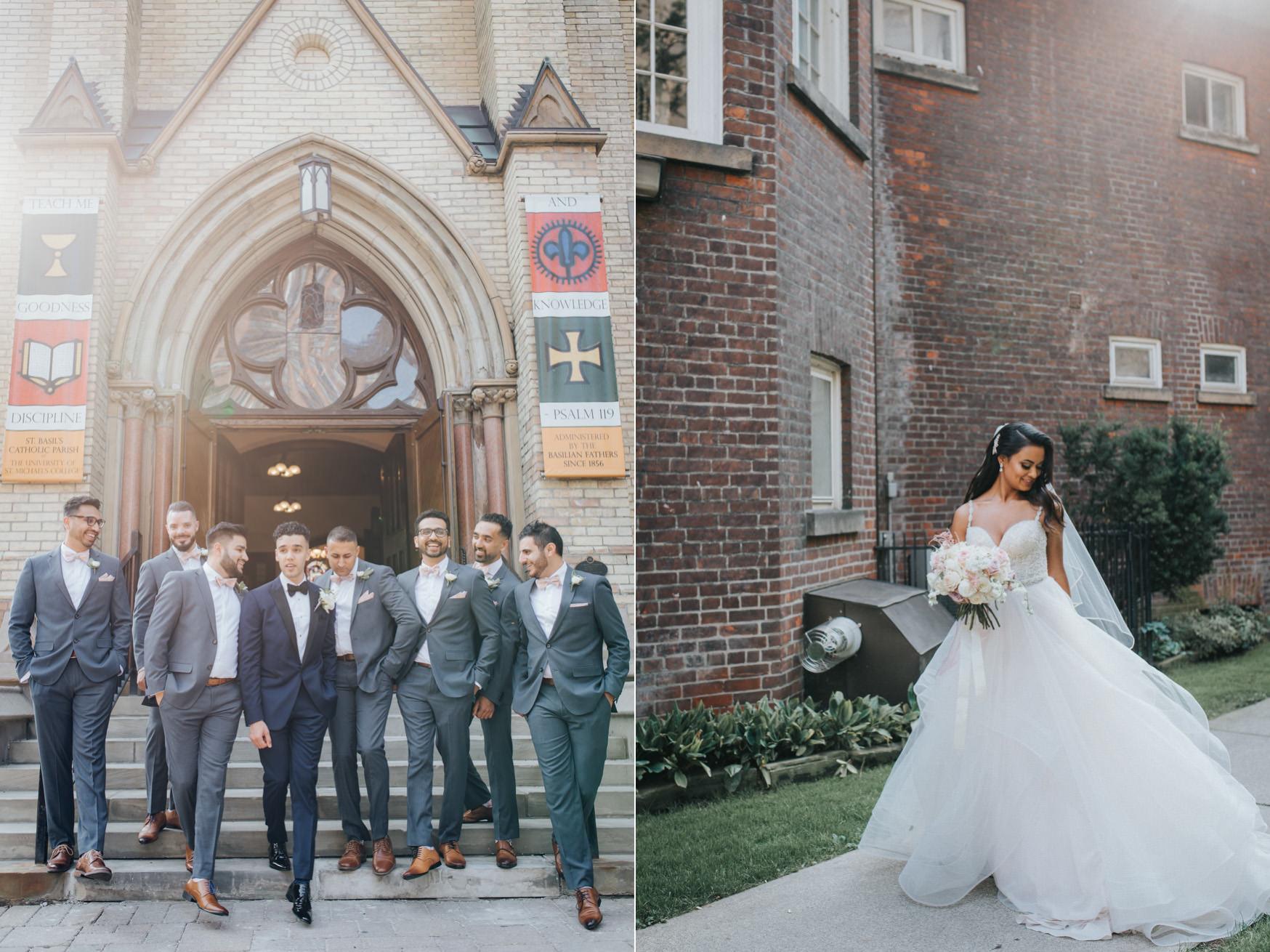 Toronto Victoria University Wedding Photo