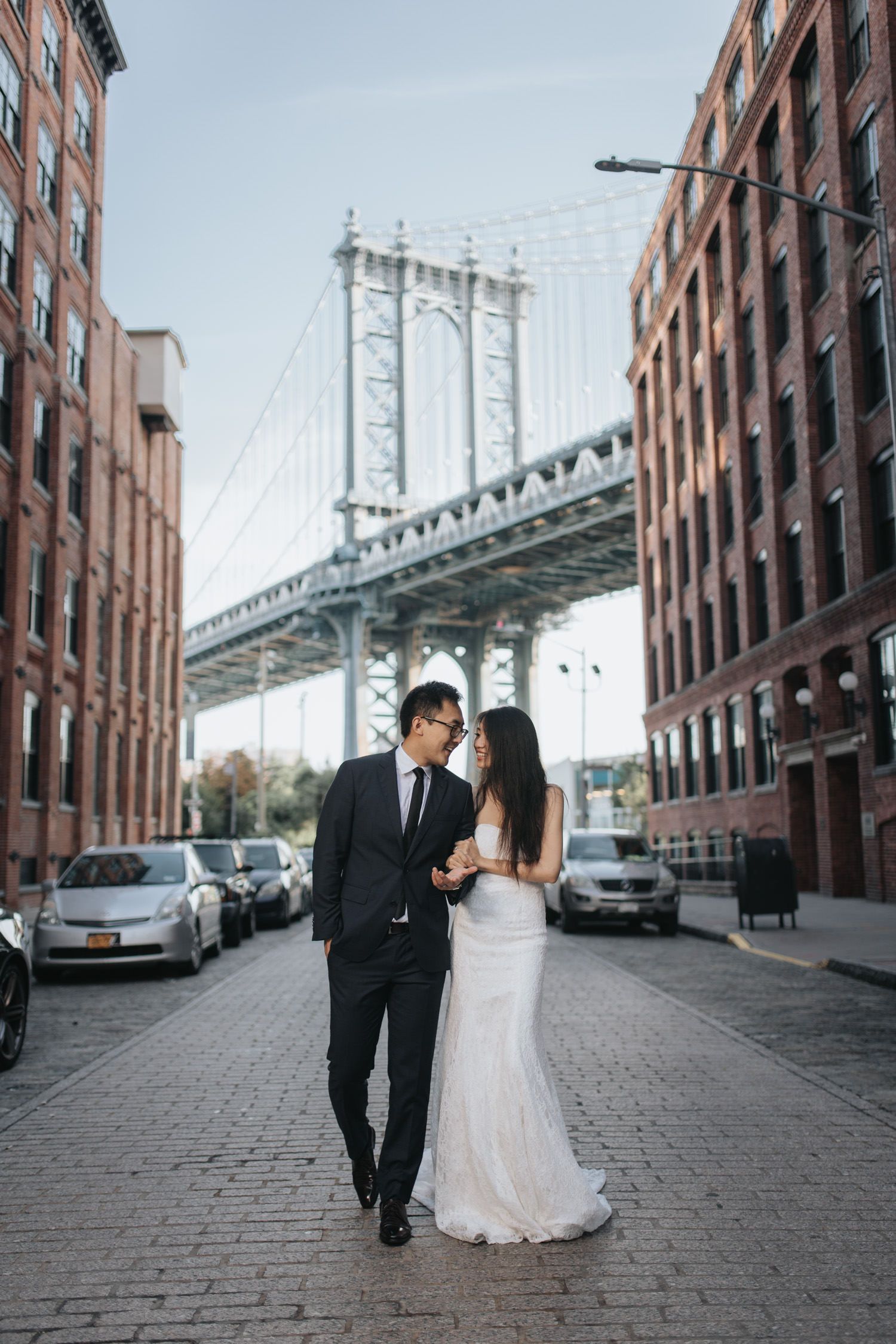 Brooklyn Dumbo Engagement Session under the Manhattan Bridge