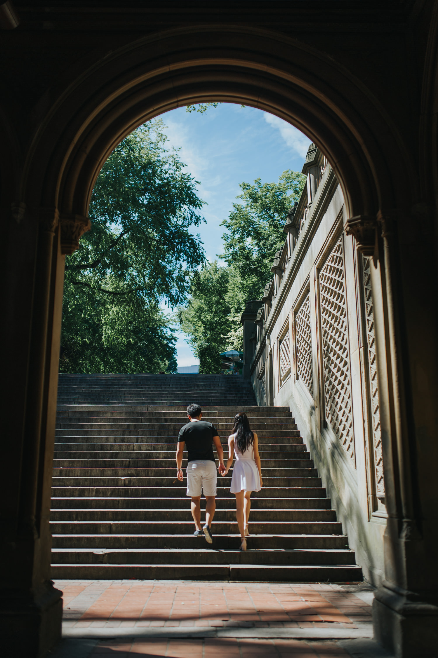 Central Park Lower Passage Engagement Photo
