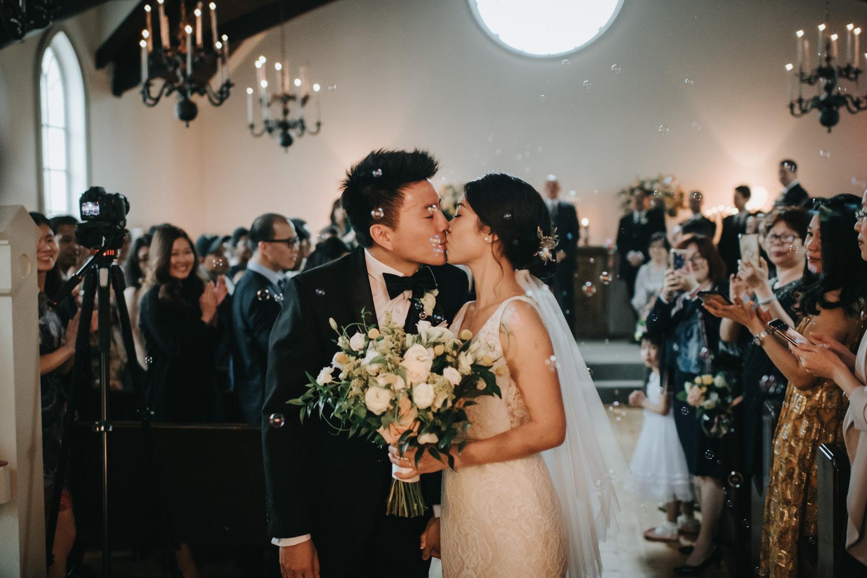 Doctor's House chapel wedding ceremony cheers