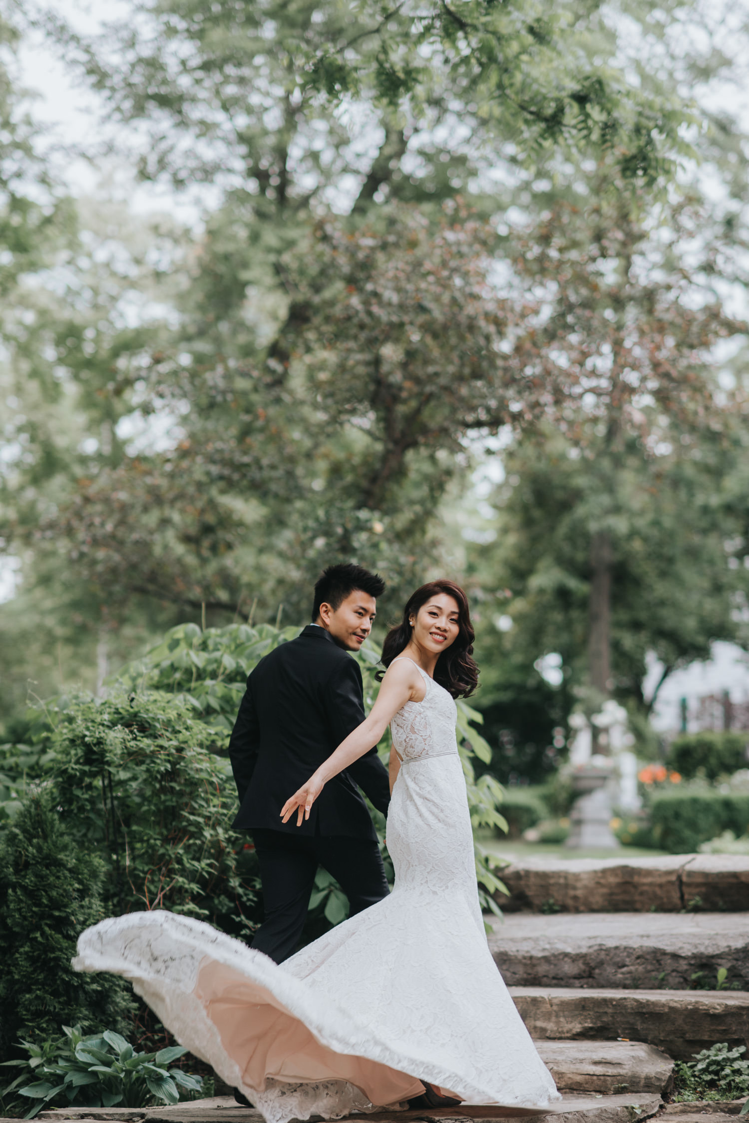 Doctor's House wedding ceremony outdoor portrait wedding dress