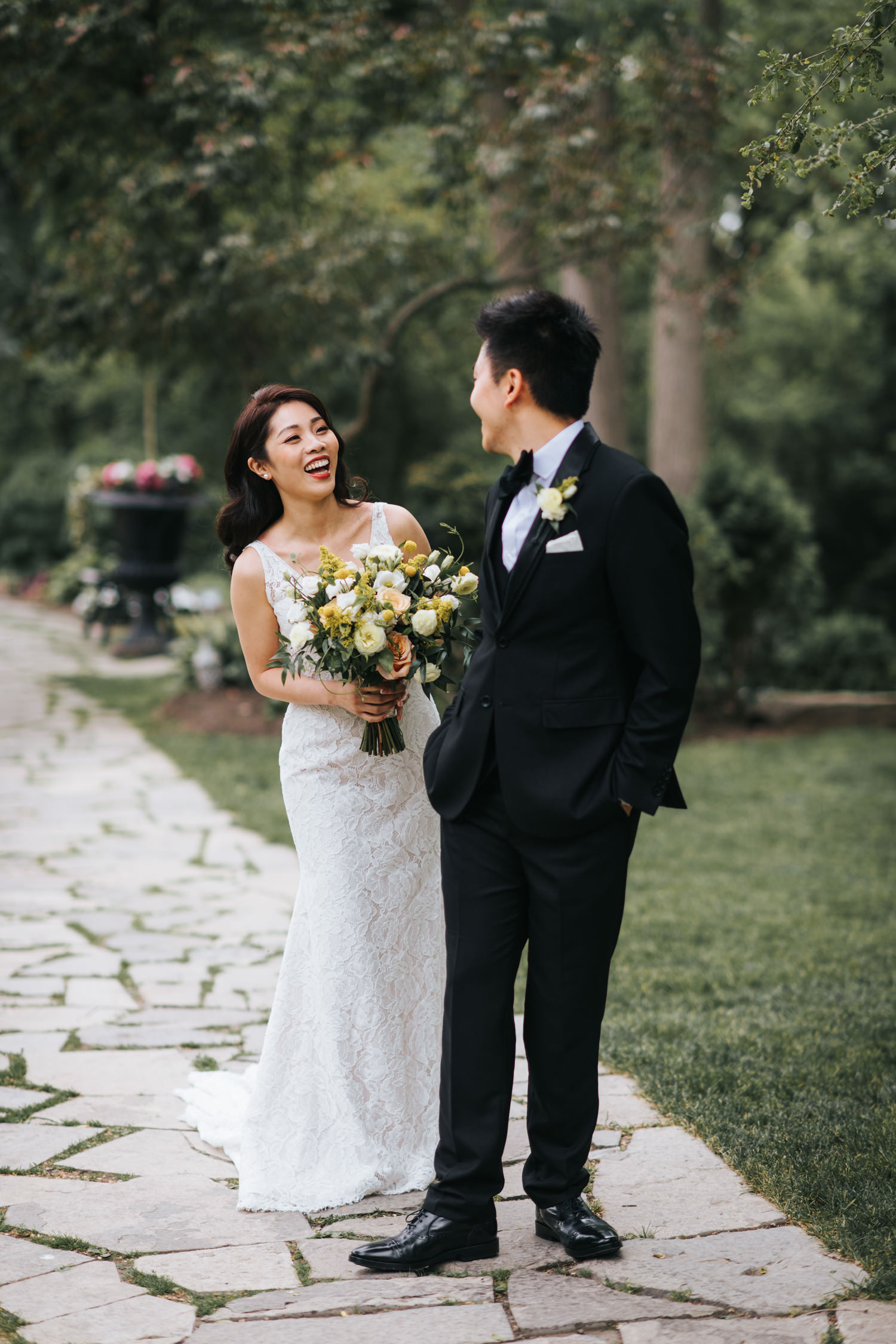 First look wedding photo at the Doctor's House Kleinburg
