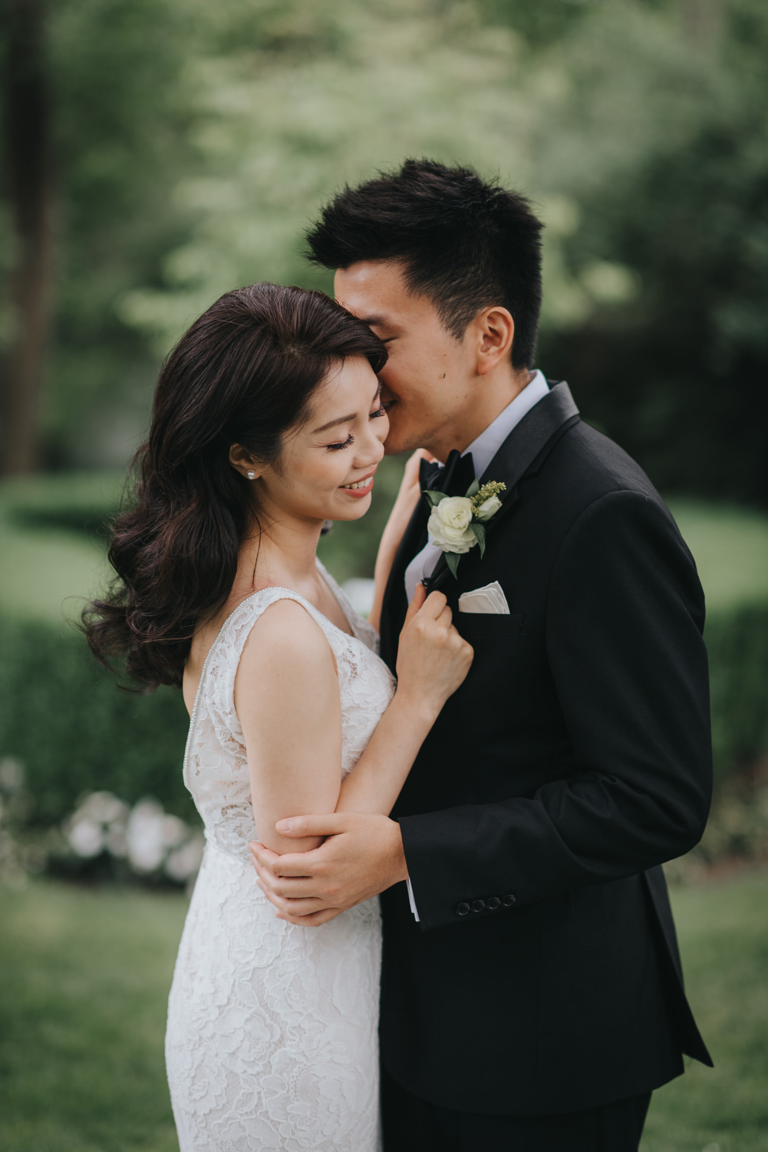 Doctor's House wedding intimate romantic portrait bride and groom
