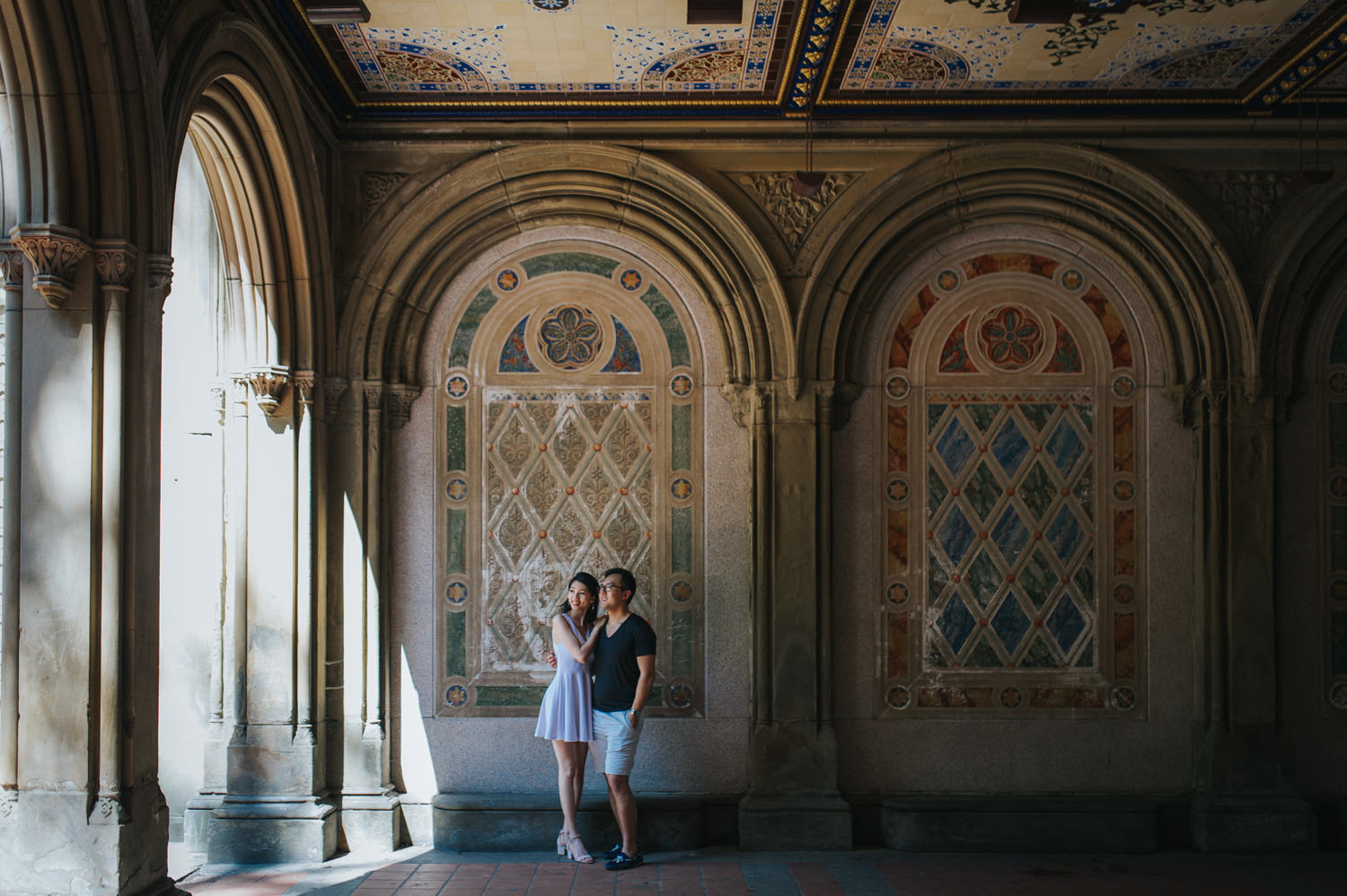Manhattan Central Park Lower Passage Engagement Photo