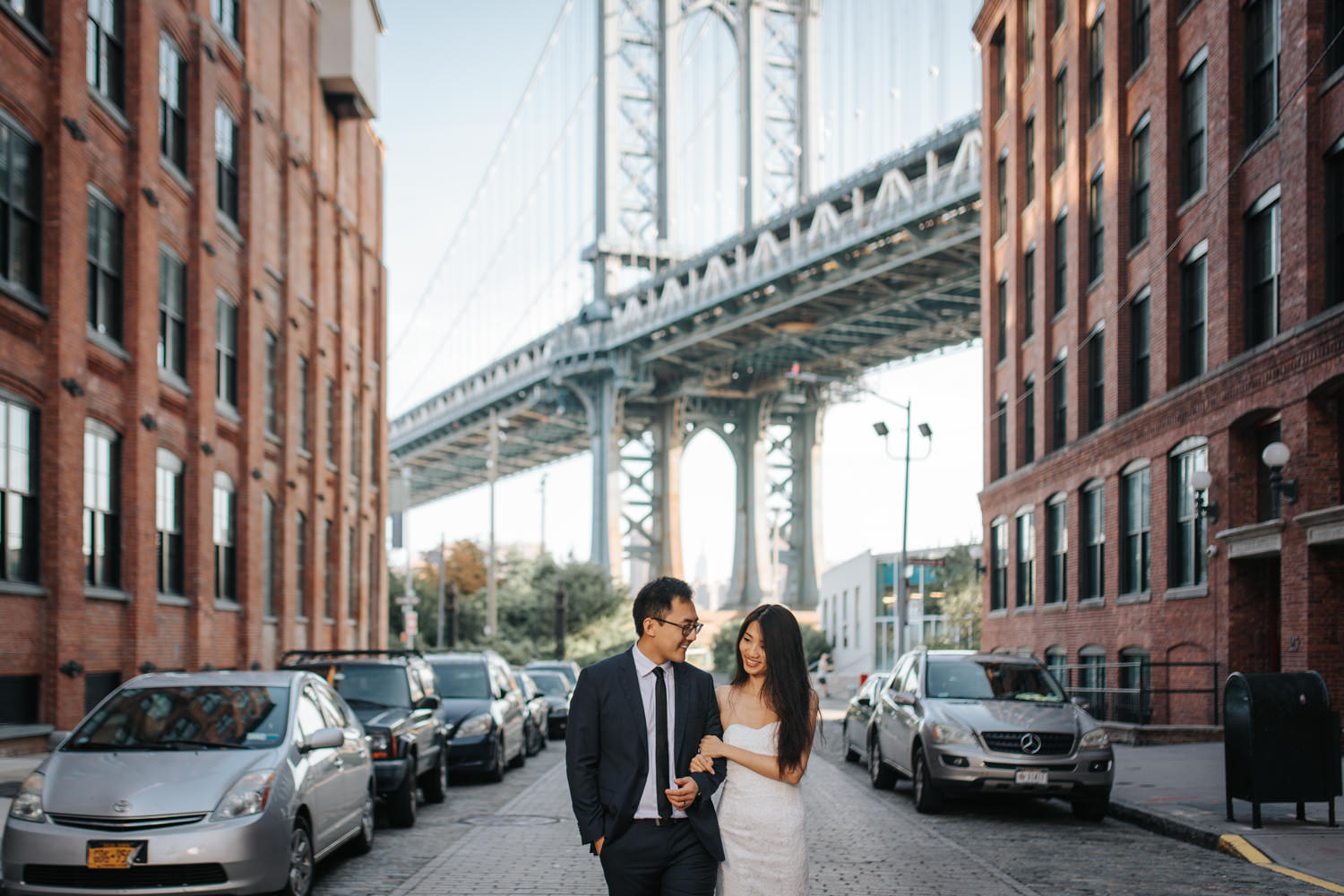 Brooklyn Dumbo Pre-Wedding Photography in New York