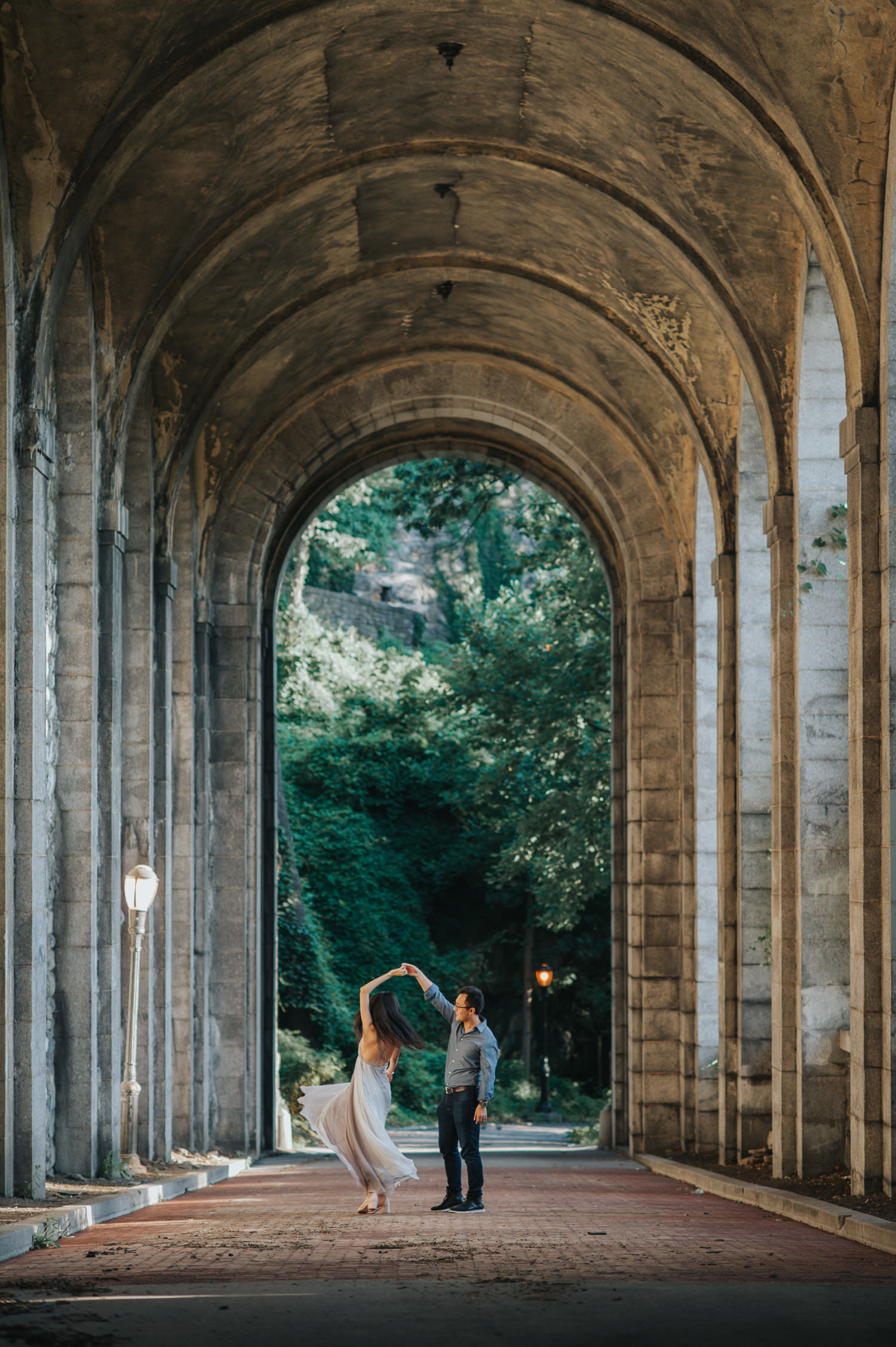 Engagement Session at the Cloisters at Manhattan Heights