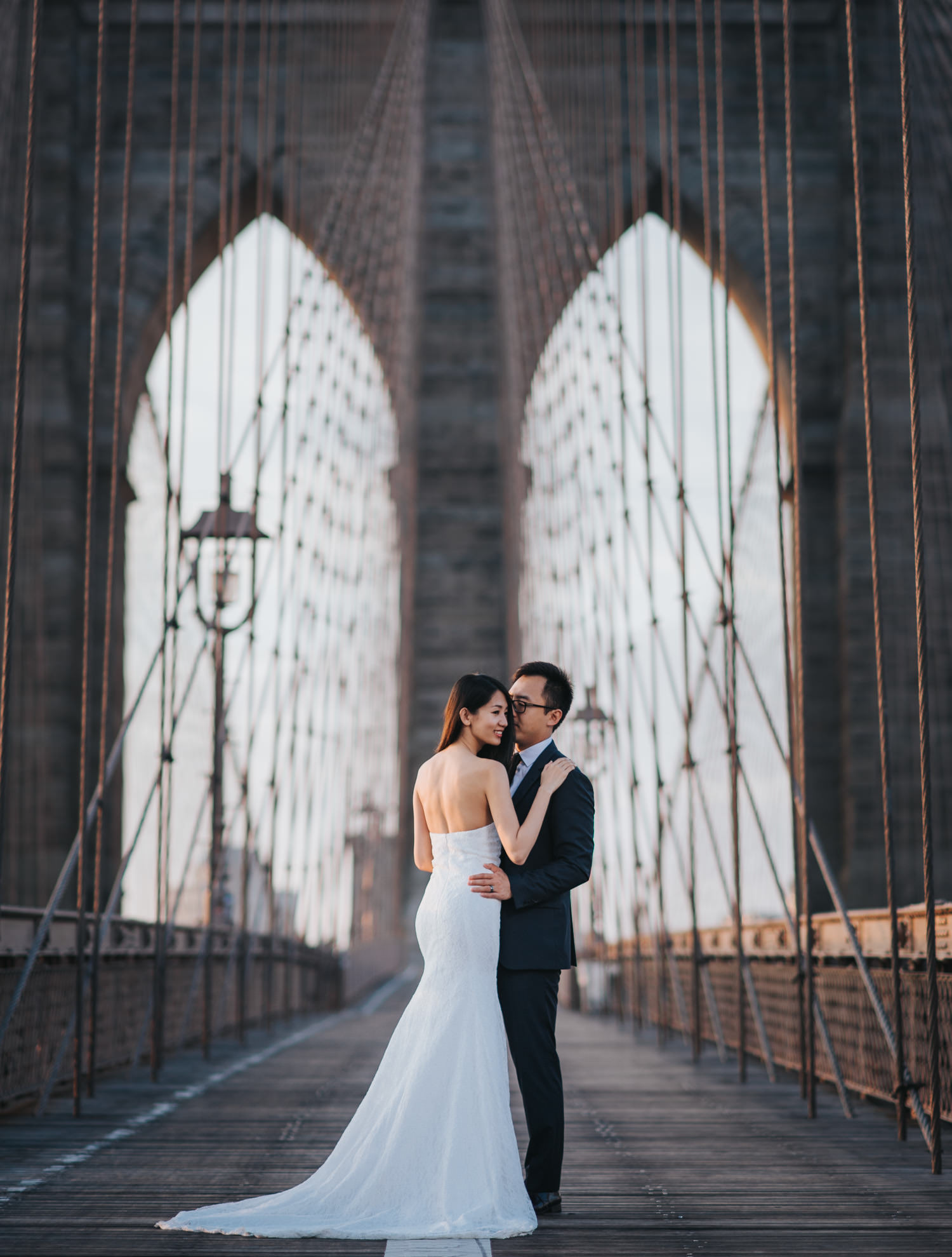 New York Engagement Photography at the Brooklyn Bridge