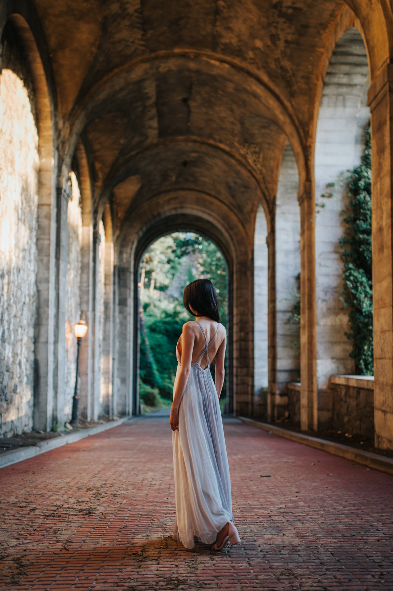 Portrait session at the Cloisters in New York