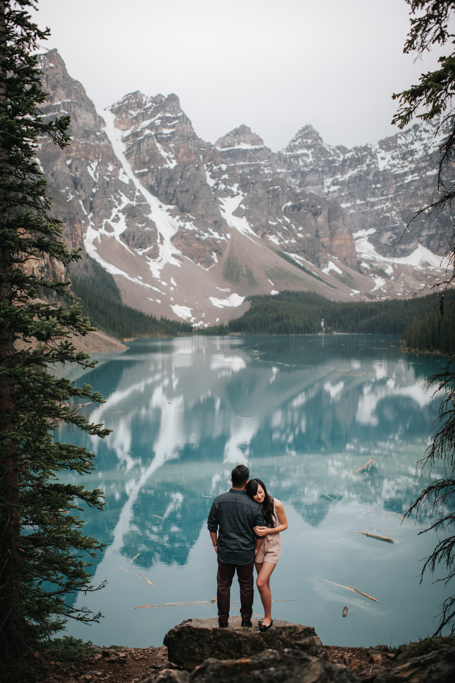 Banff Moraine Lake Engagement Photo