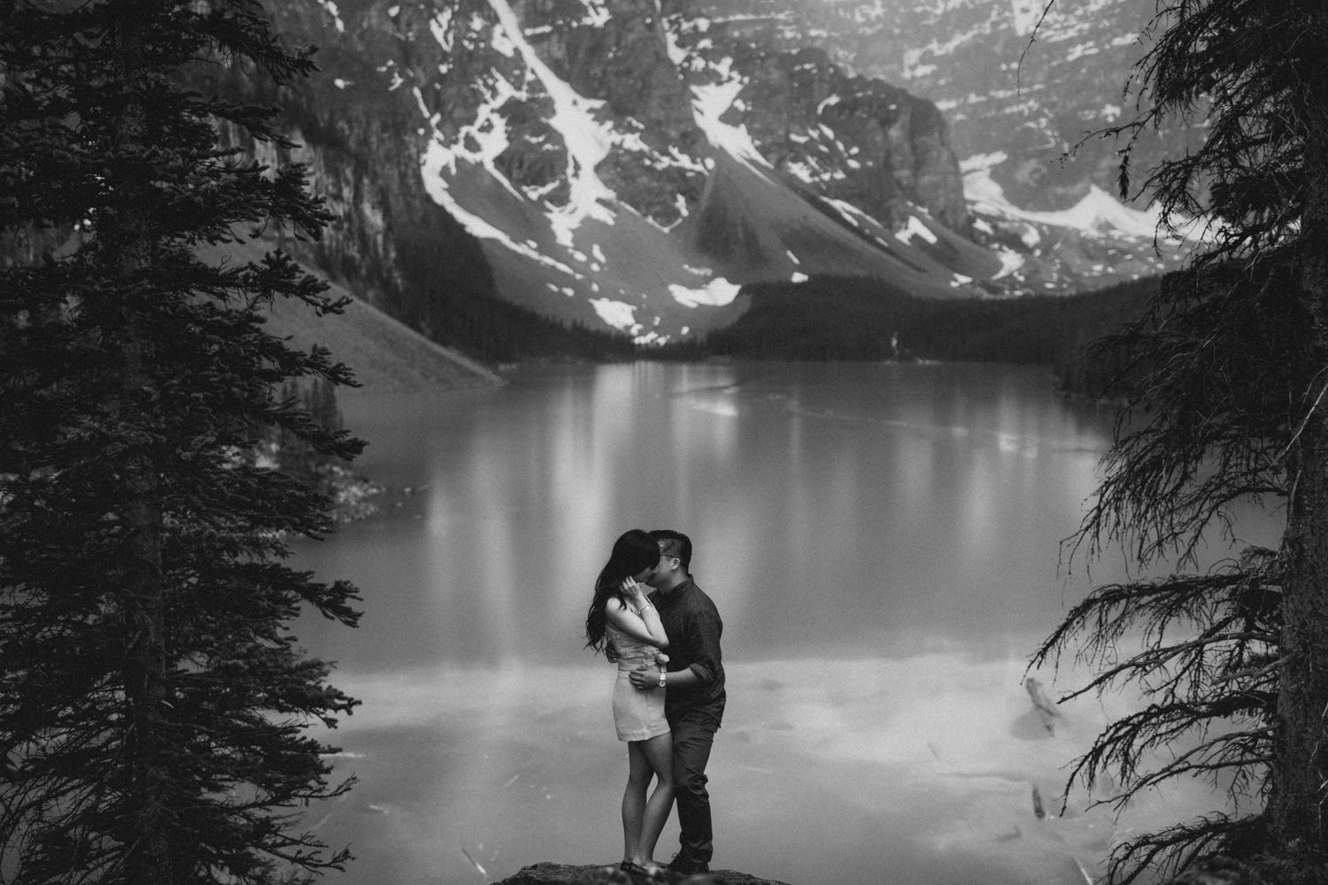 Moraine Lake Banff Canada Engagement Wedding Photo