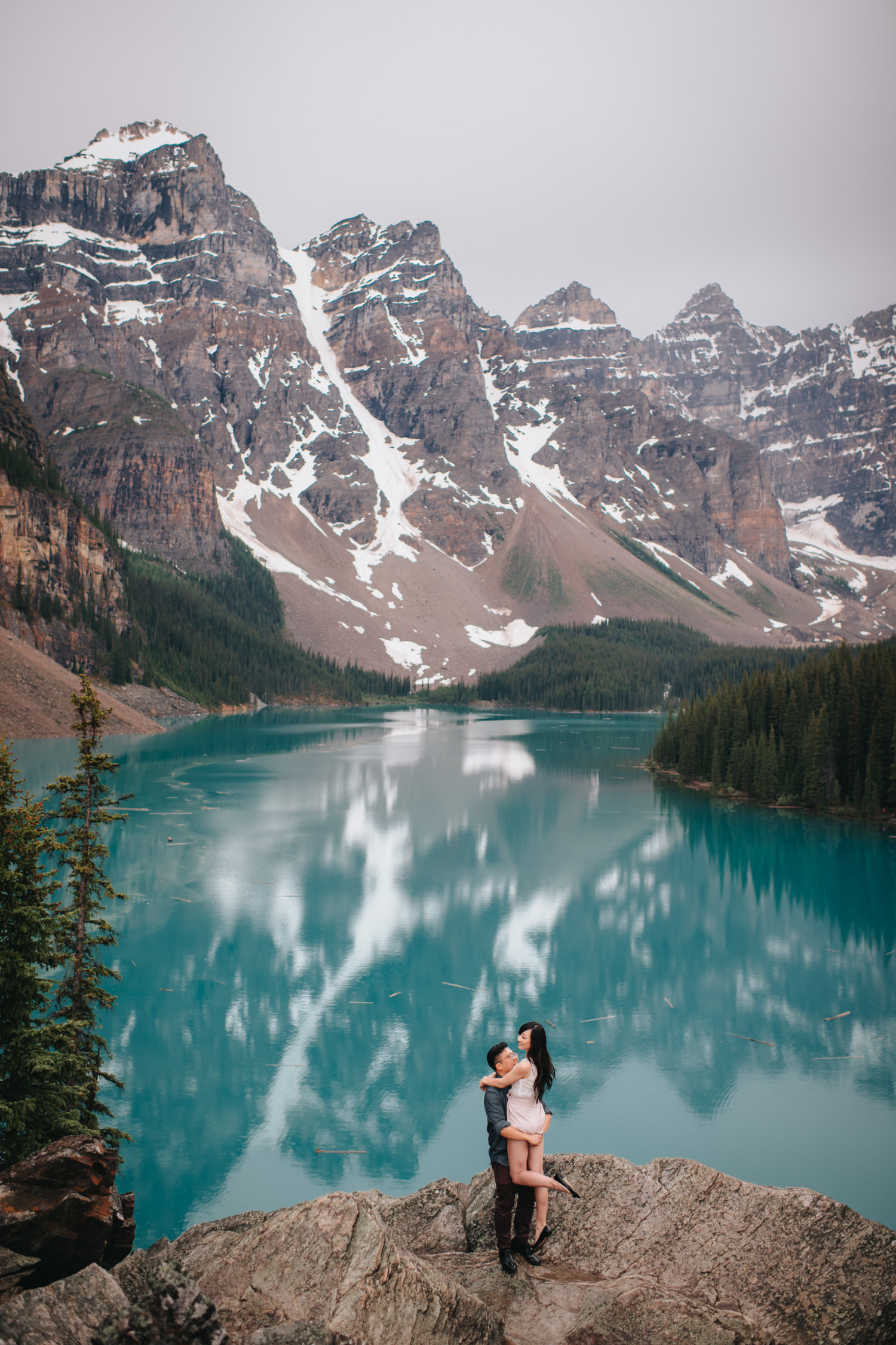 Moraine Lake Engagement Photo 1