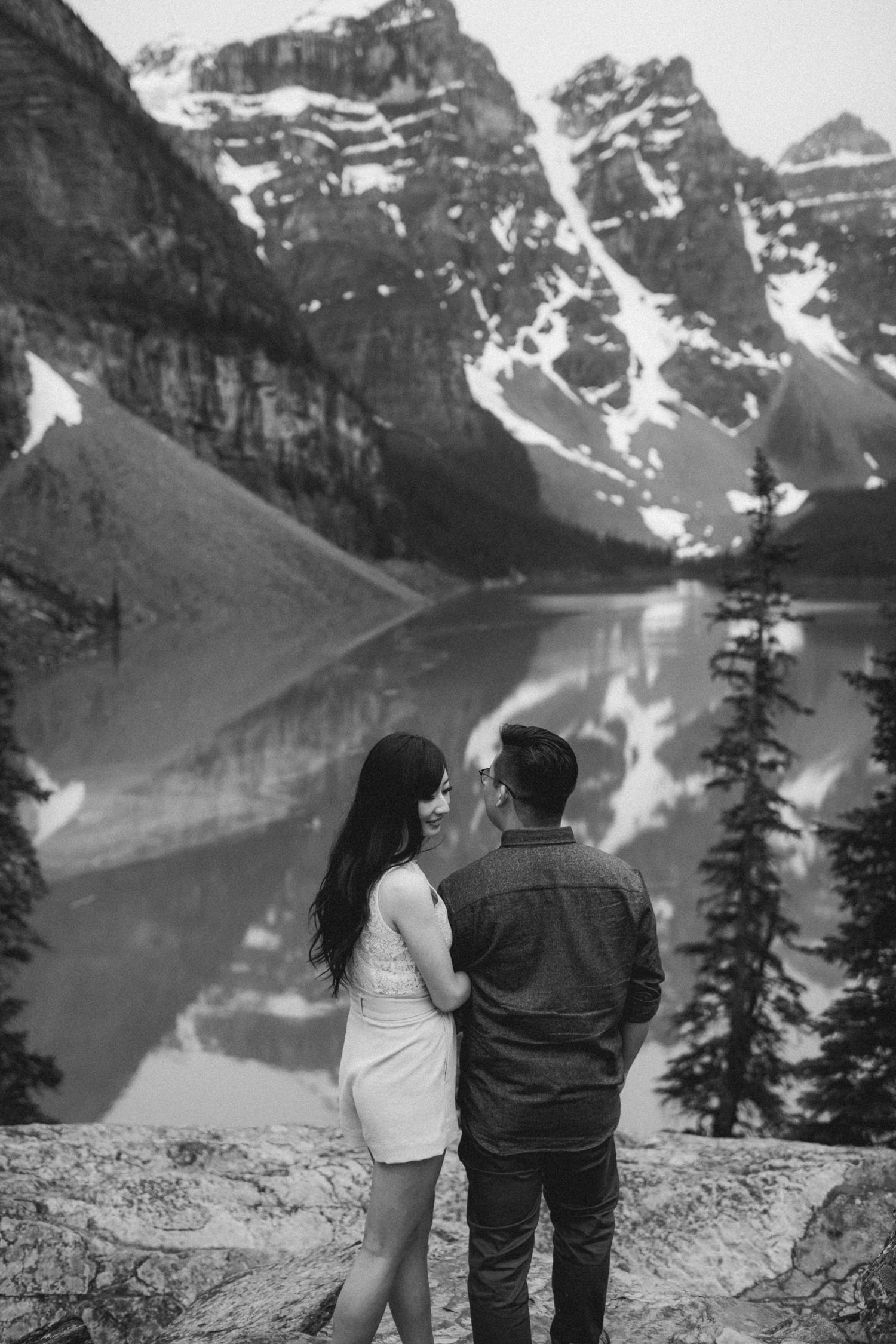 Rocky Mountains Engagement Photo