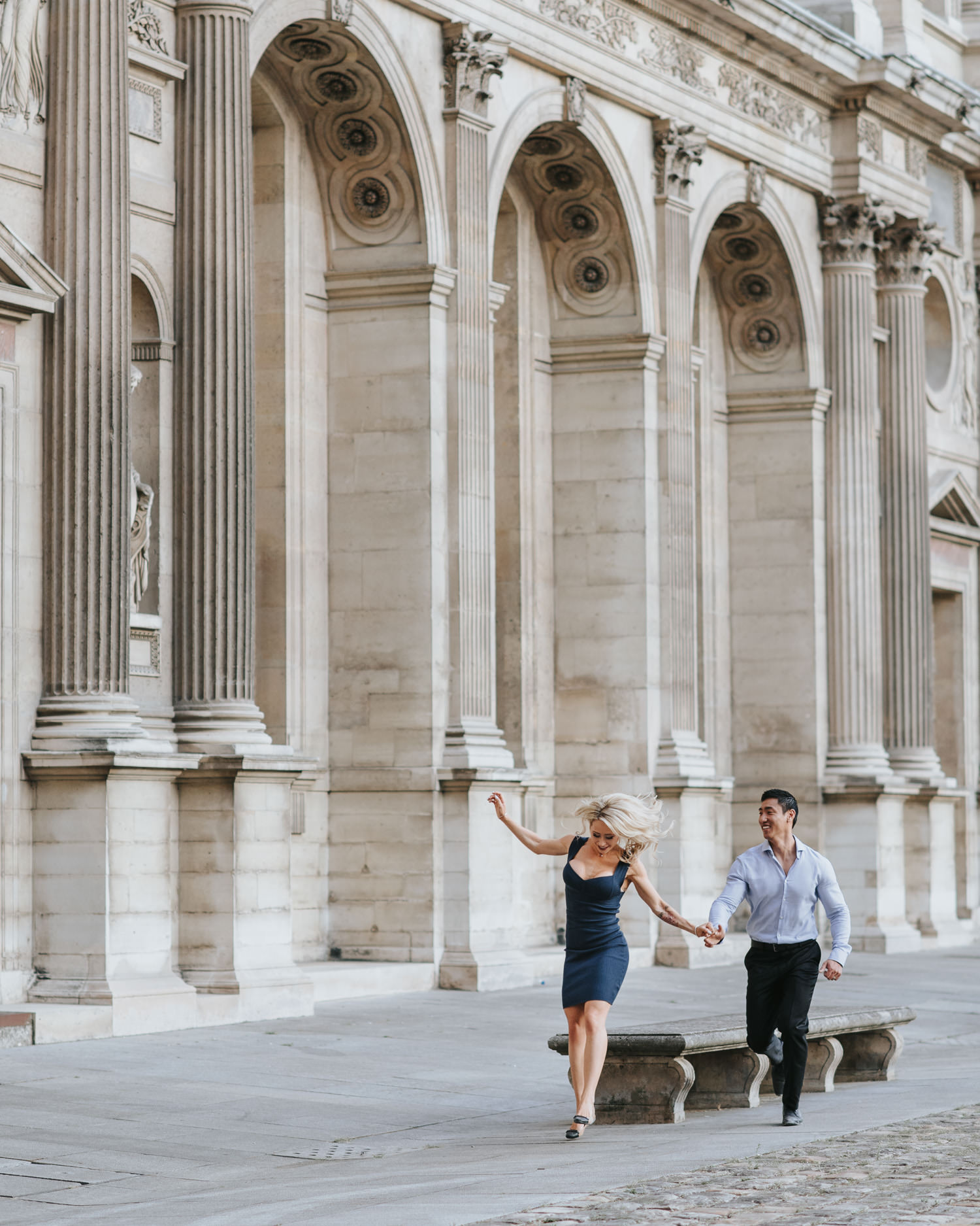 Fun and candid Paris Elopement Photo