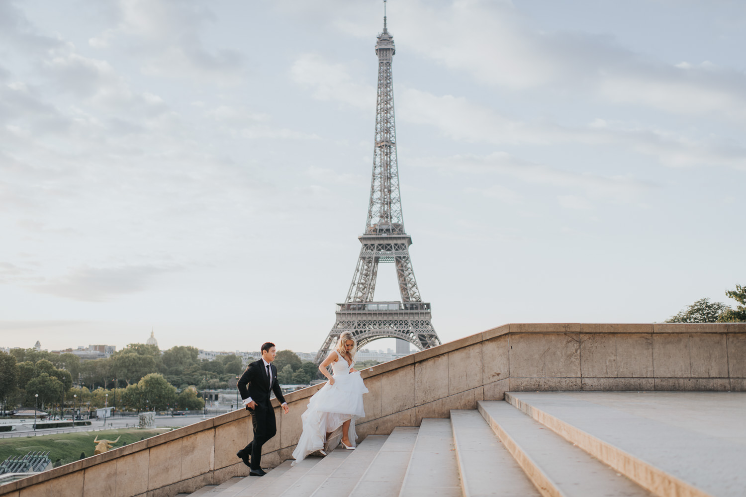 Intimate Elopement photo taken at Trocadero