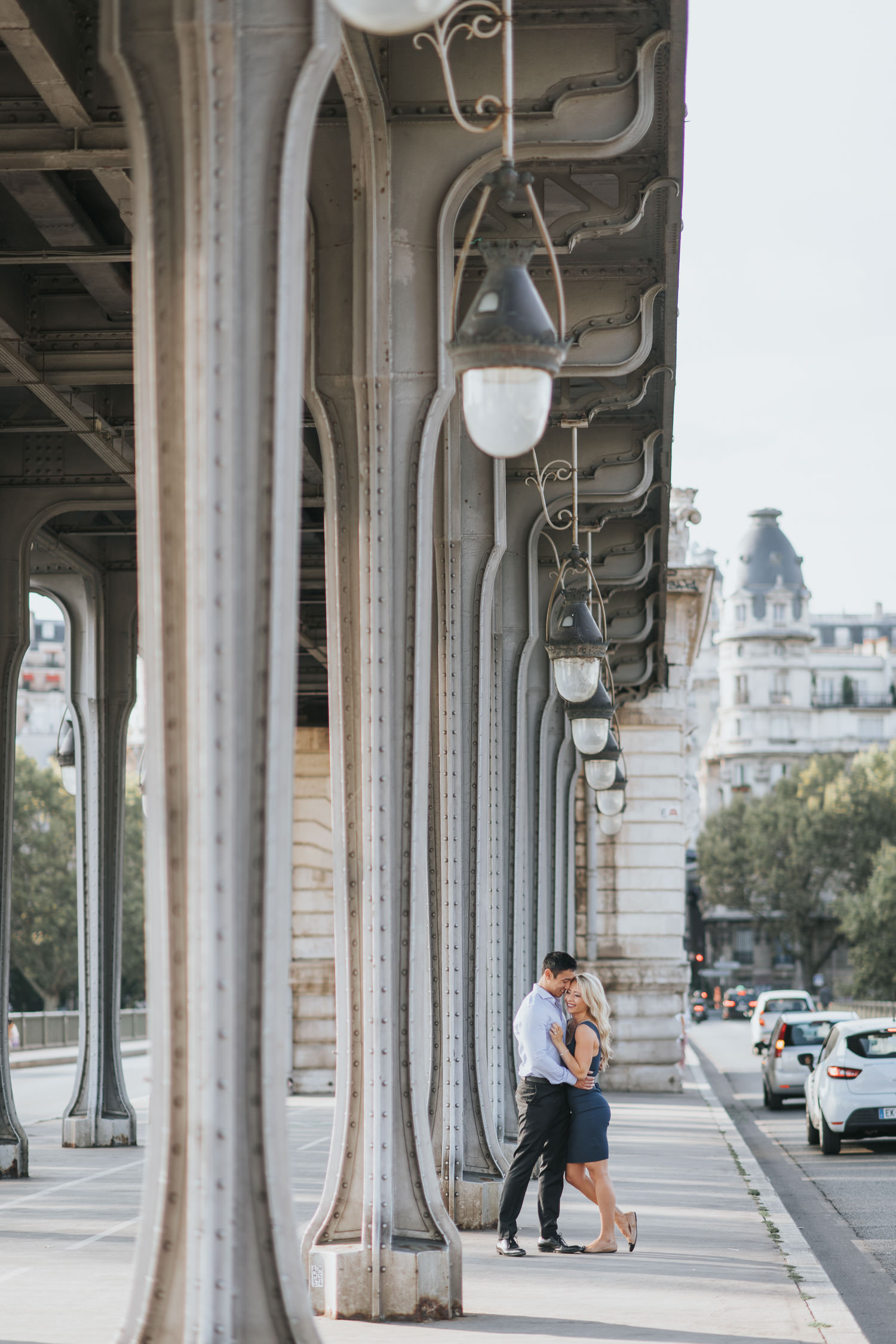 Intimate and candid Paris Engagement Photo
