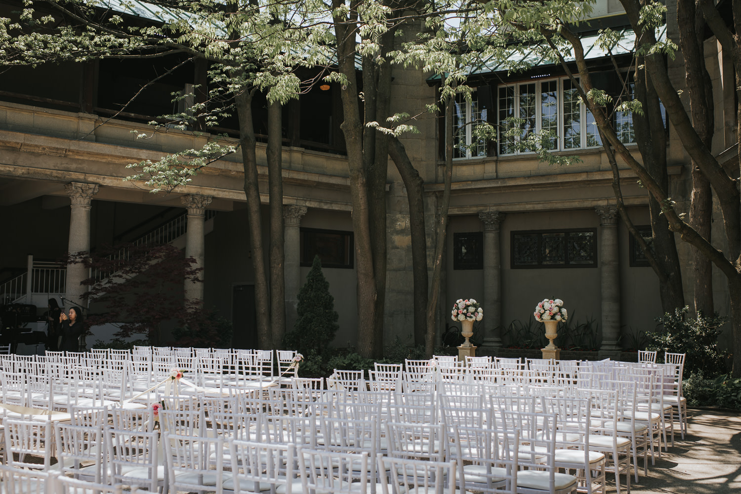 Liberty Grand outdoor wedding ceremony setup