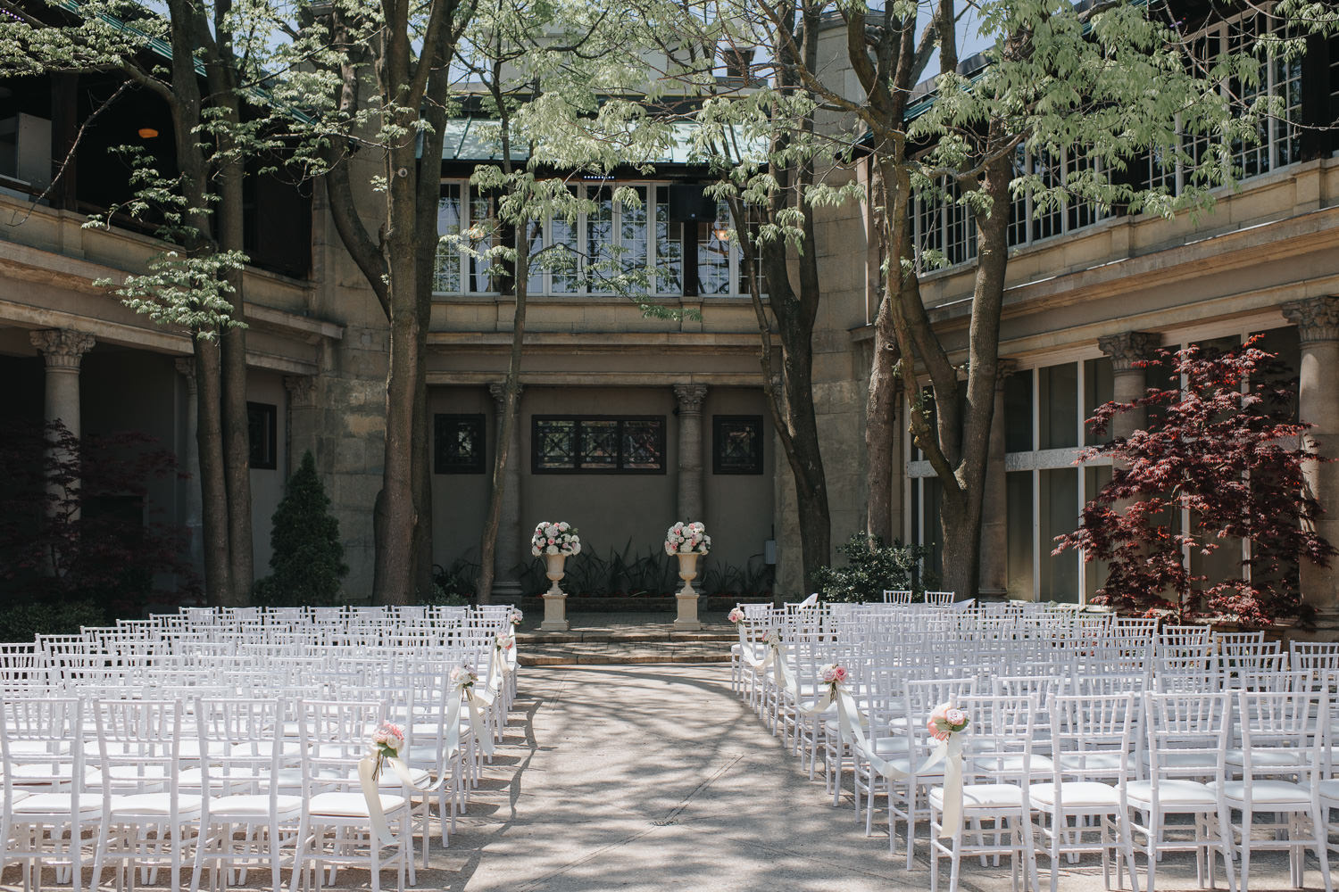 Liberty Grand outdoor wedding ceremony