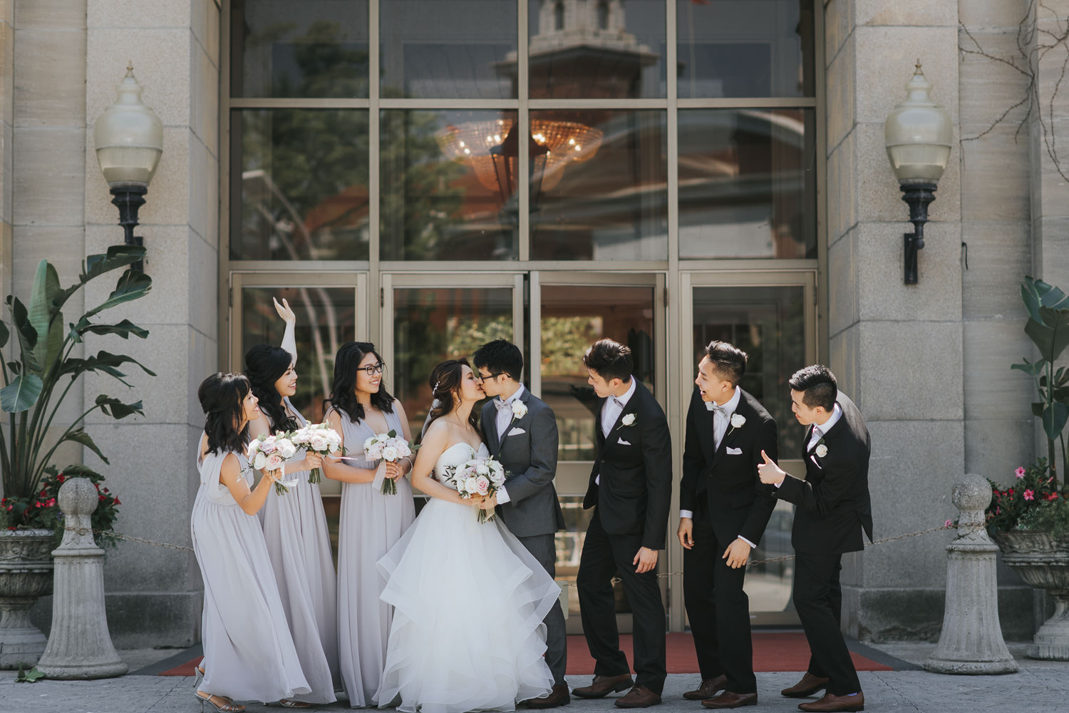 Liberty Grand wedding party photo