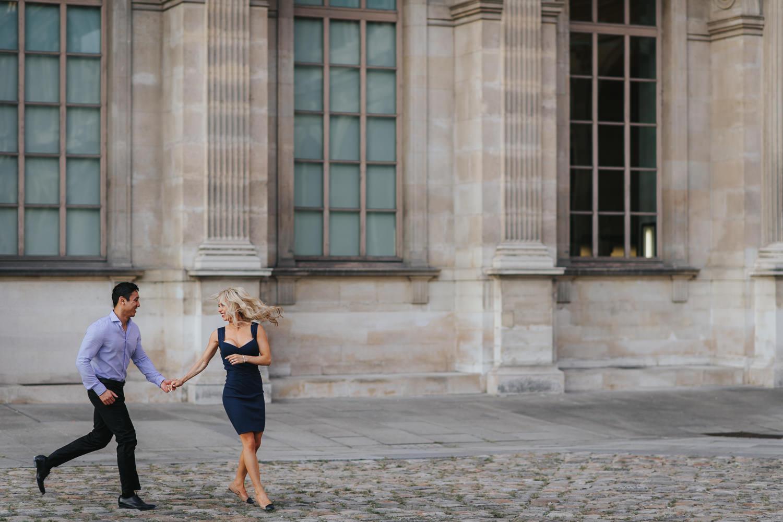 Paris City engagement photo