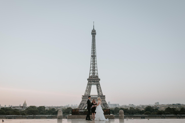 Paris Elopement Eiffel Tower Wedding Ceremony