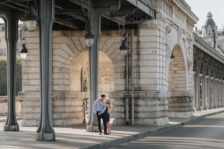 Pont de Bir-Hakeim Engagement Photography