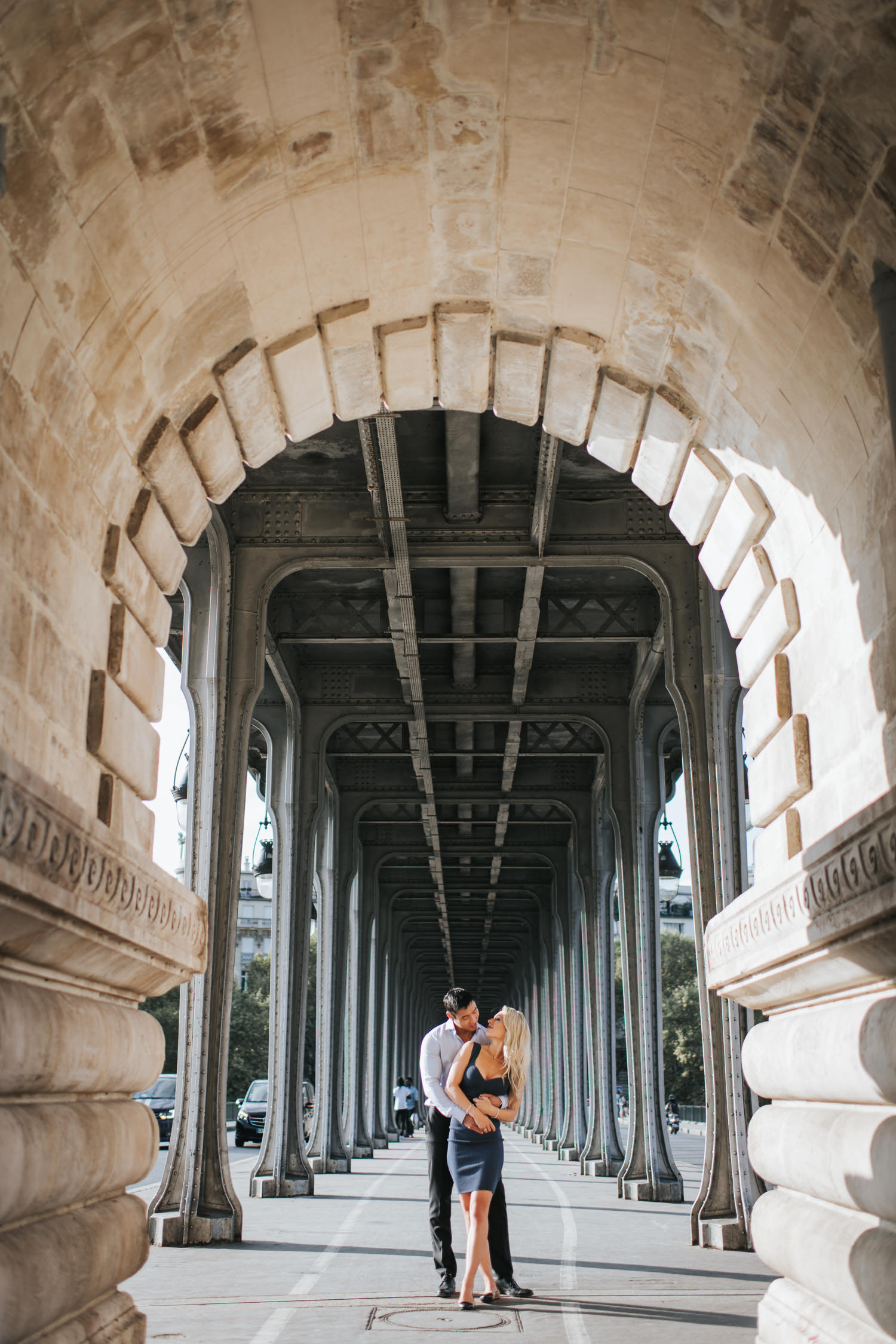 Pont de Bir-Hakeim Inception Bridge engagement photo