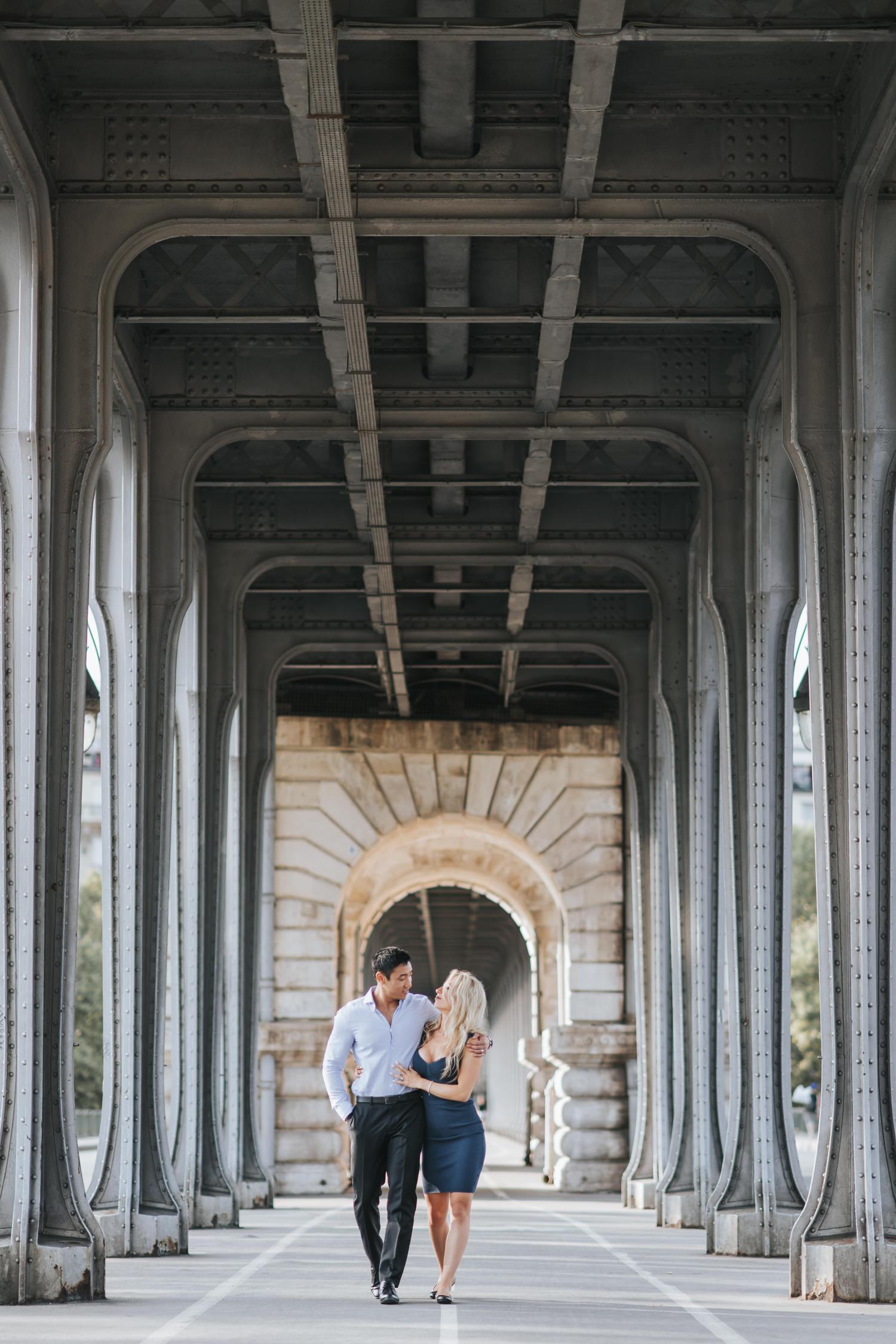 The Inception Bridge engagement photo