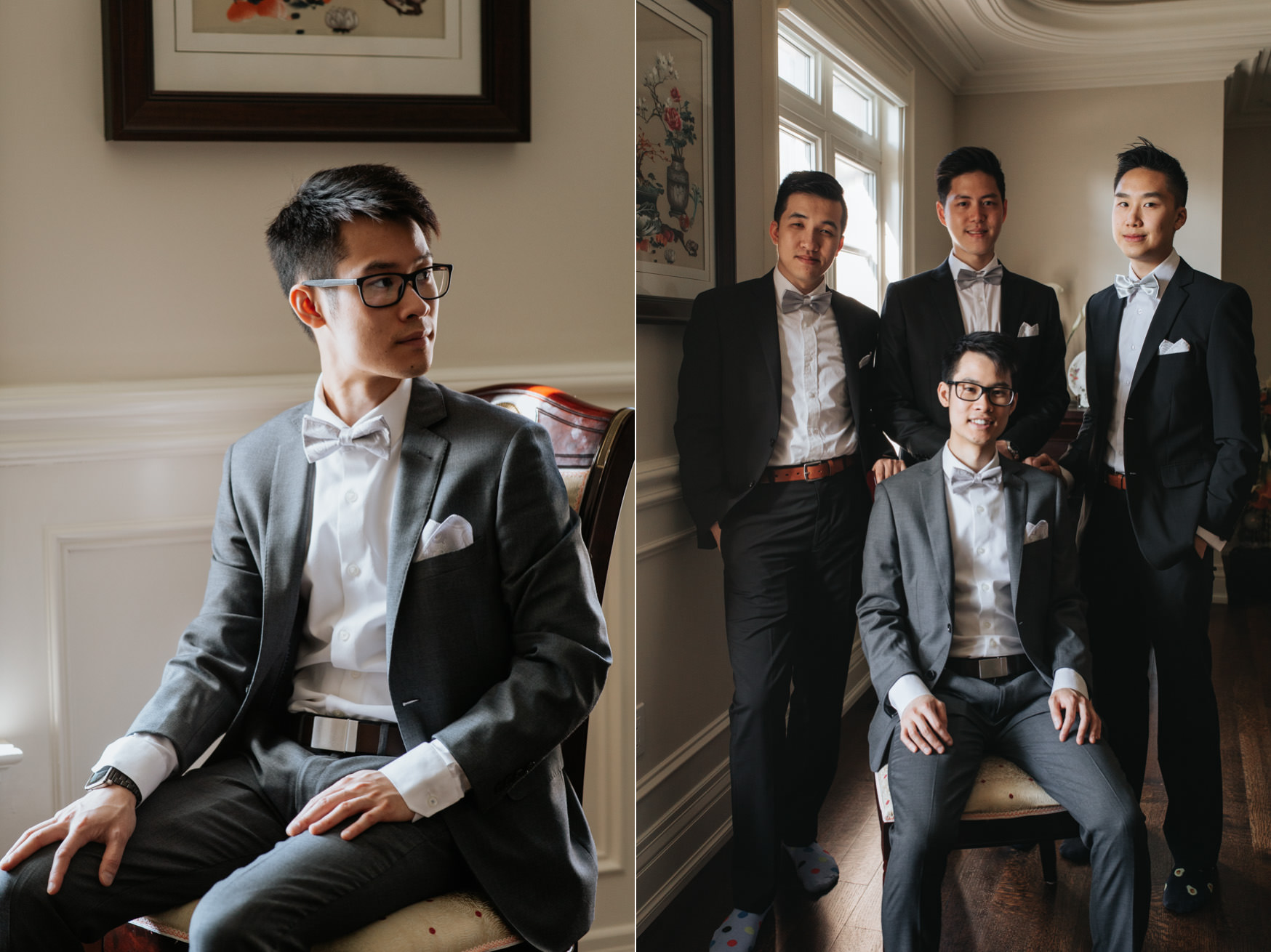 Toronto Wedding Groom and groomsmen Getting Ready