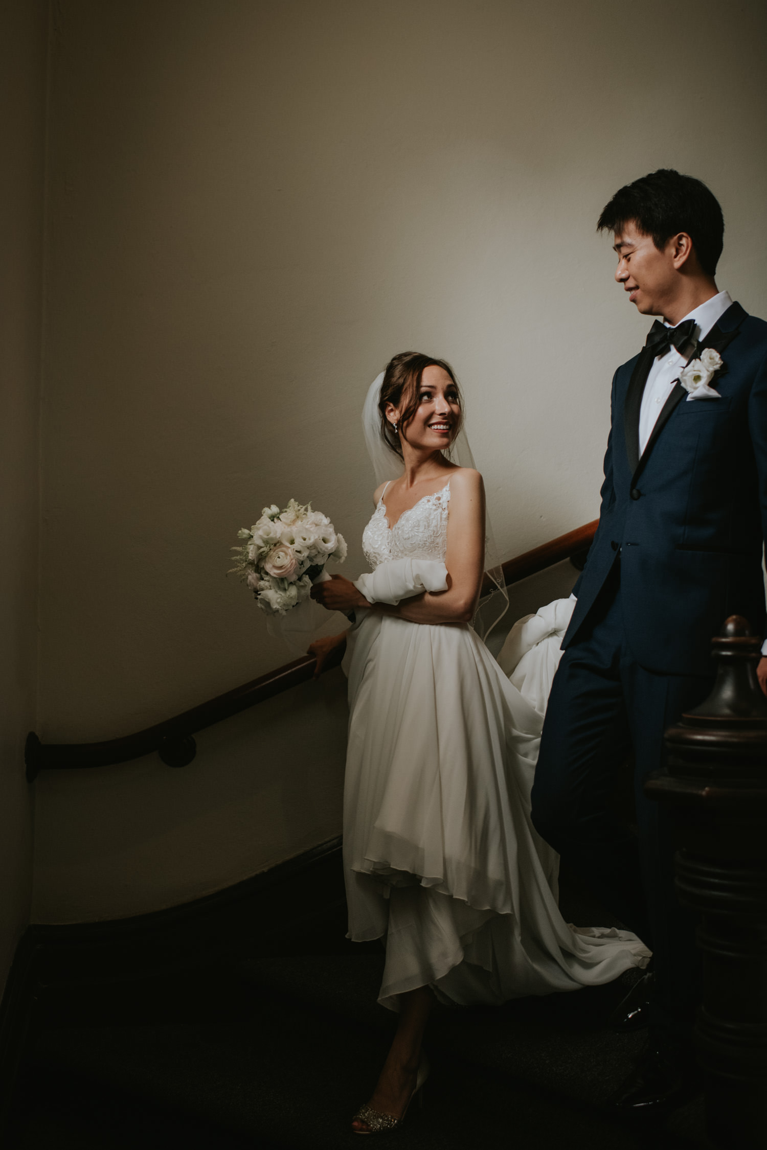 Grace Toronto Church Wedding Bride and Groom Portrait