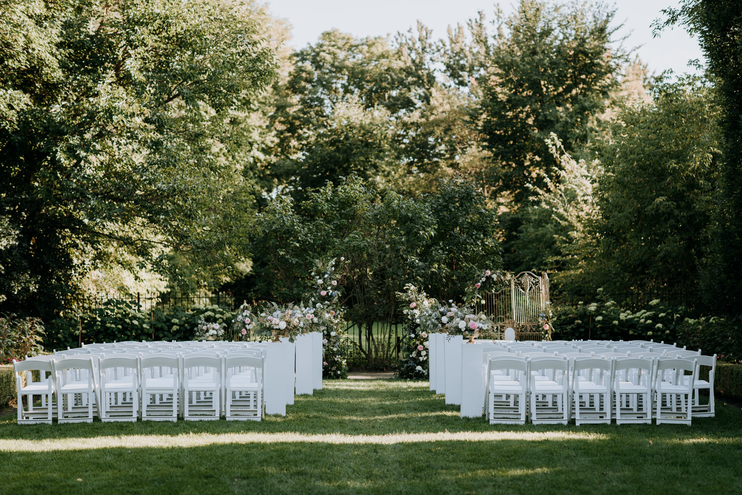 Graydon Hall Outdoor Wedding Ceremony Setup