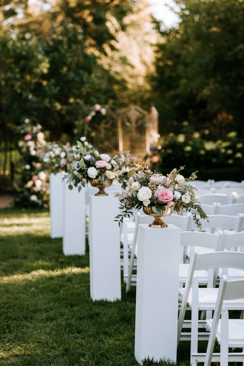 Graydon Hall Outdoor Wedding Floral Decor